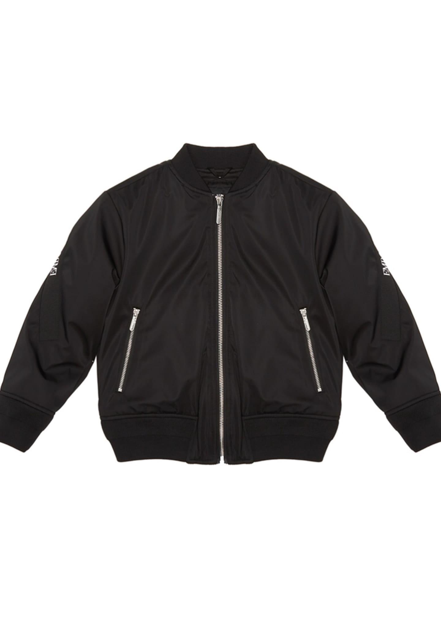 Emporio Armani Boy's Bomber Jacket w/ Logo Taping,