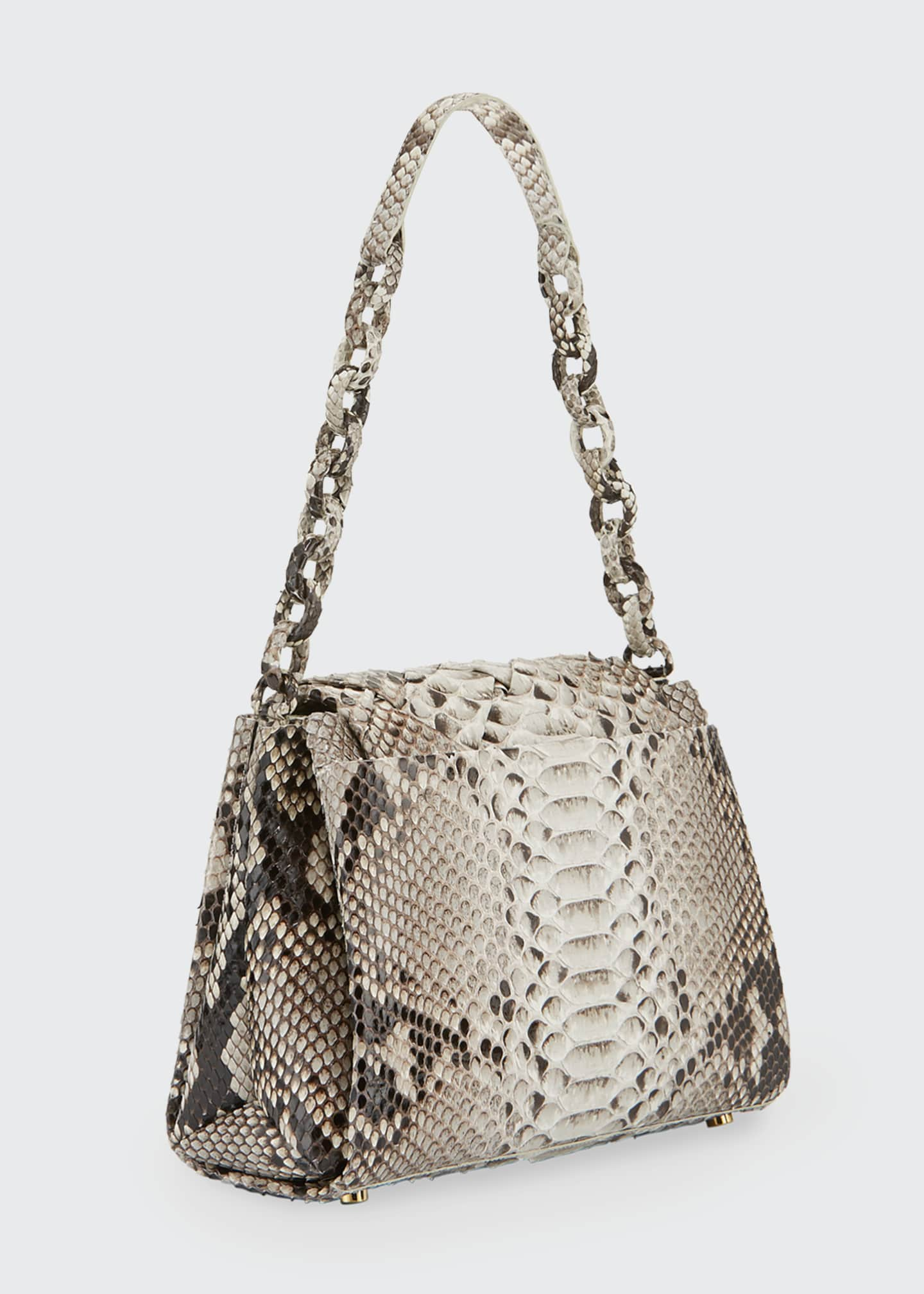 Image 2 of 3: Medium Flap Shoulder Bag With Weave