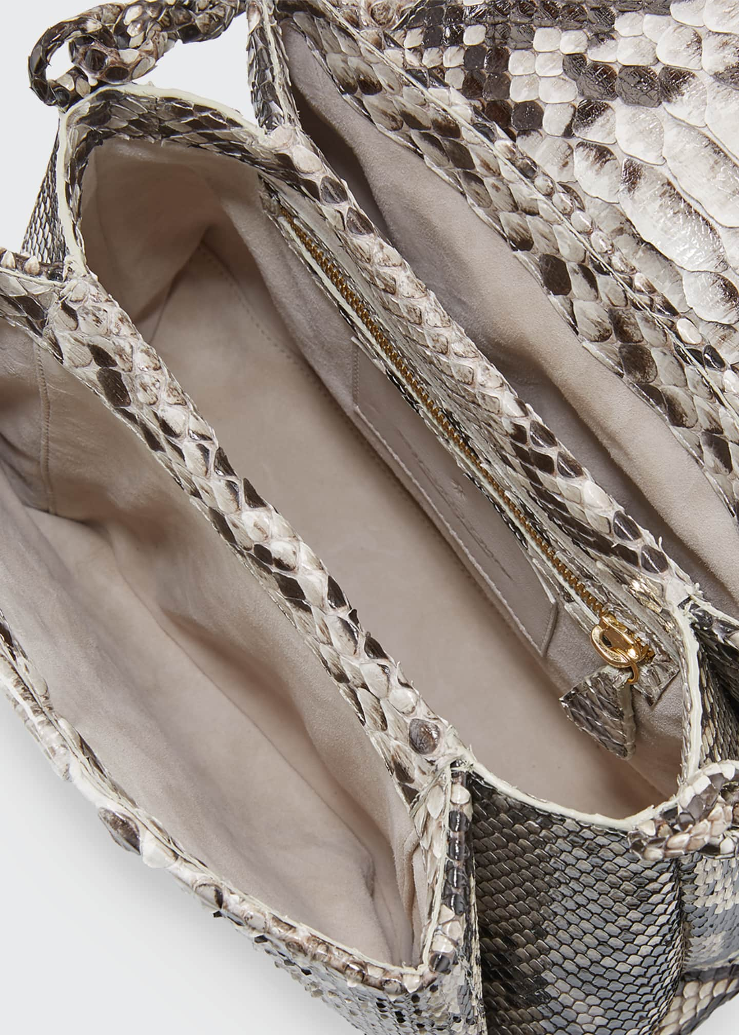 Image 3 of 3: Medium Flap Shoulder Bag With Weave