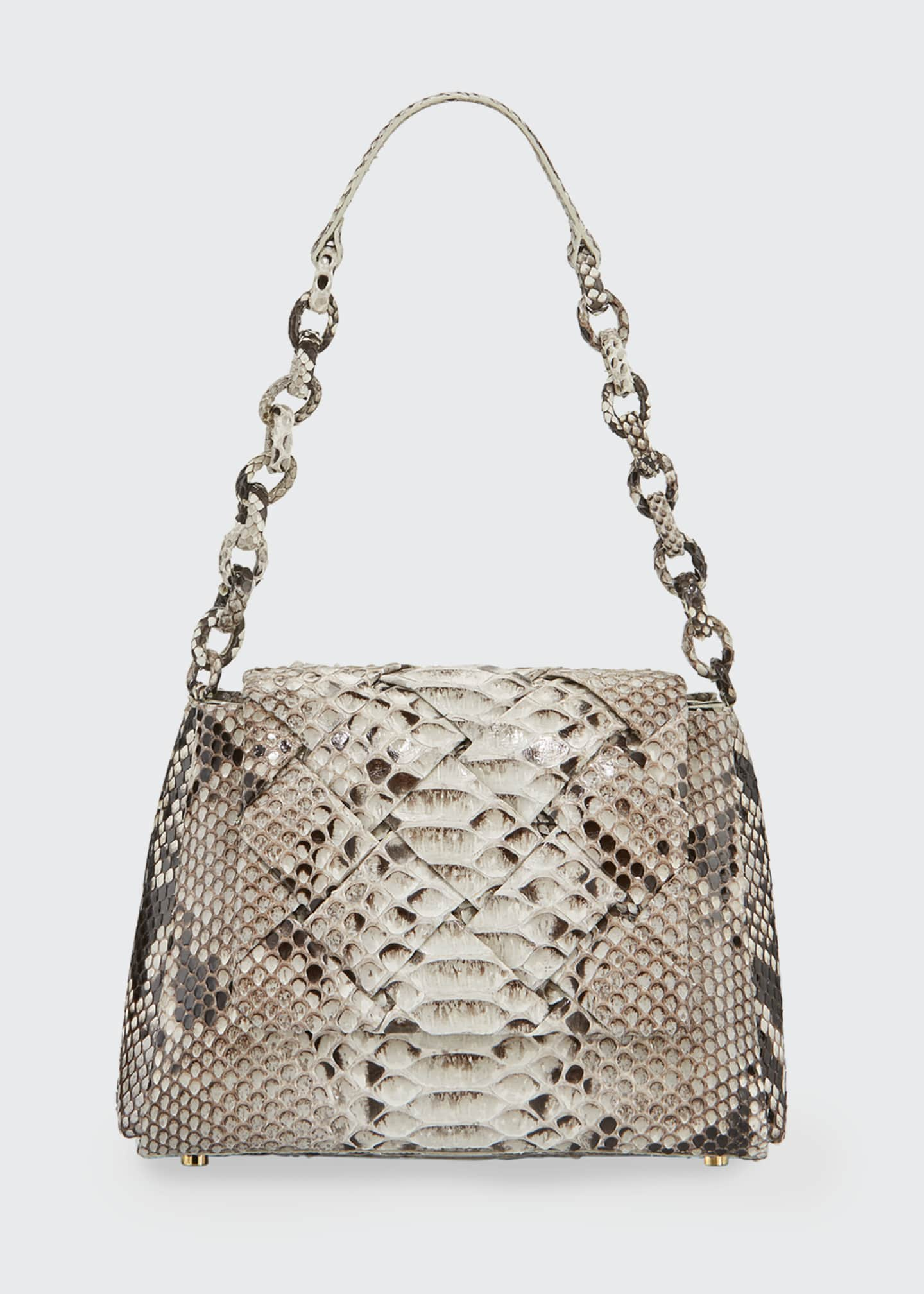 Image 1 of 3: Medium Flap Shoulder Bag With Weave
