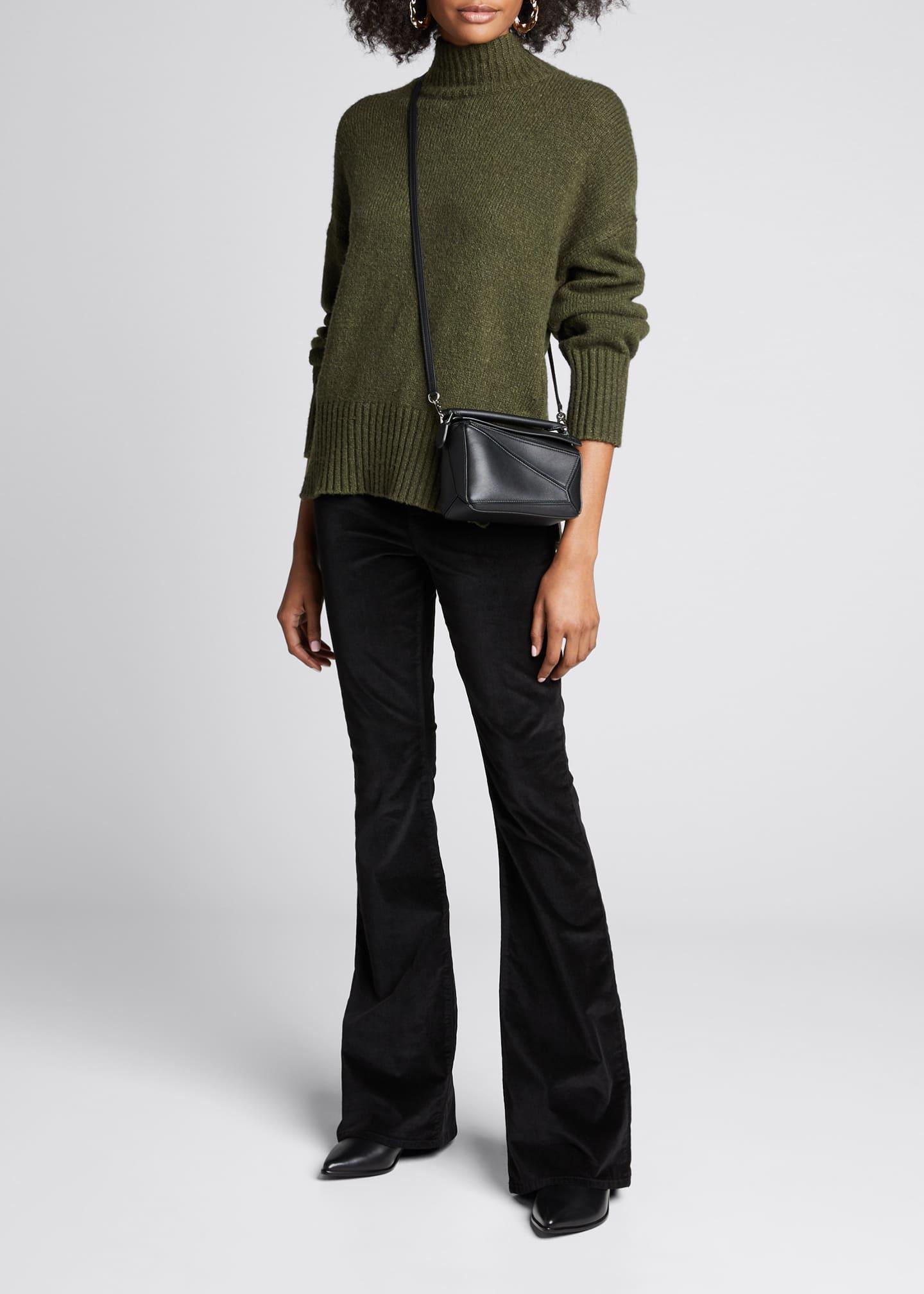 FRAME Side-Slit Turtleneck Sweater
