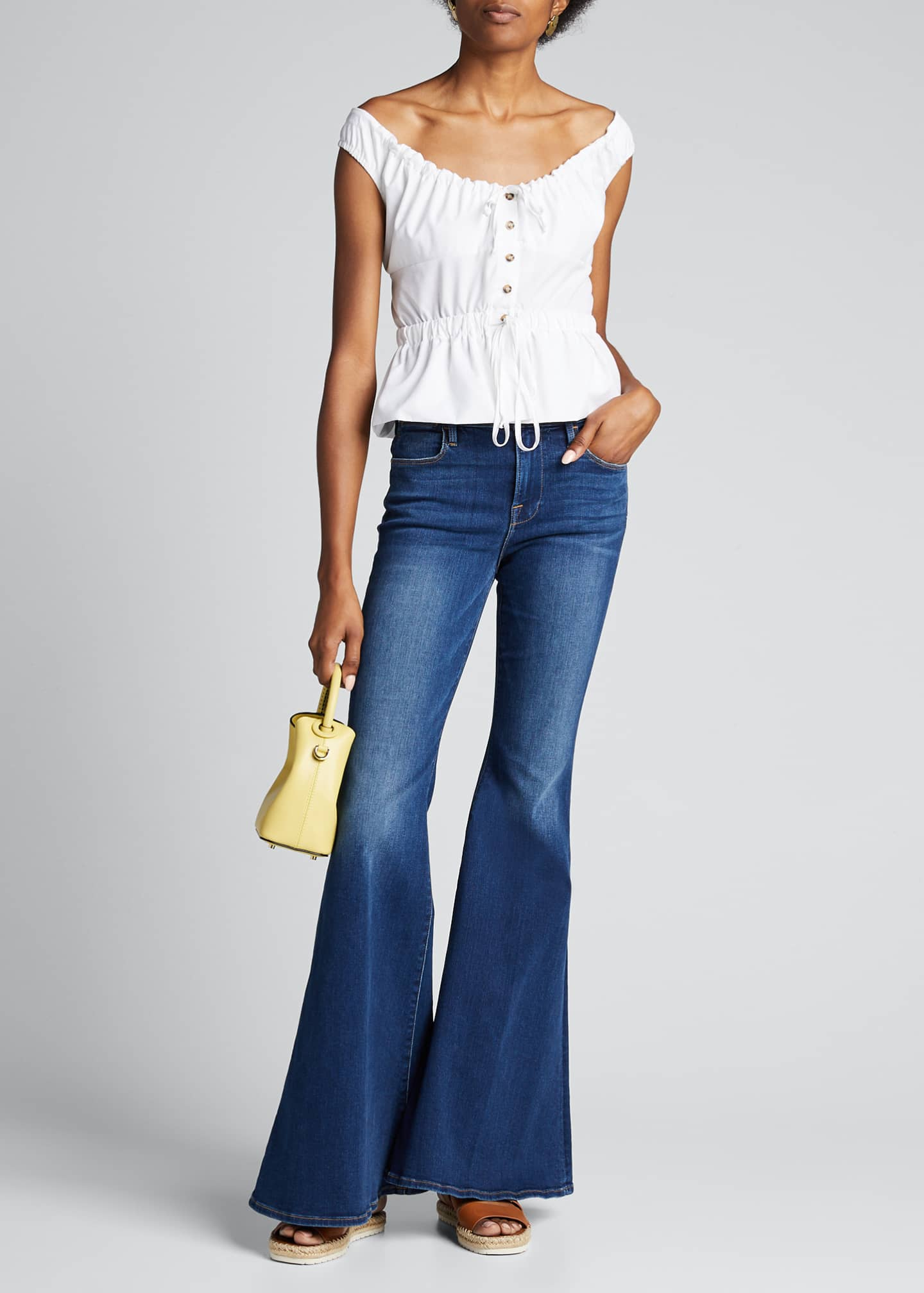 FRAME Le High Super Flare Jeans