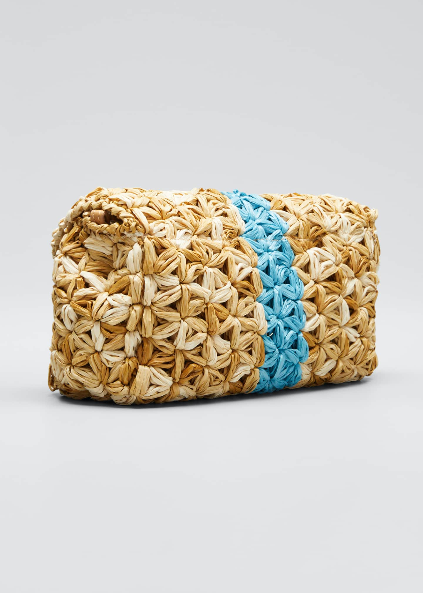 Image 3 of 5: Albamaria Straw Clutch Shoulder Bag