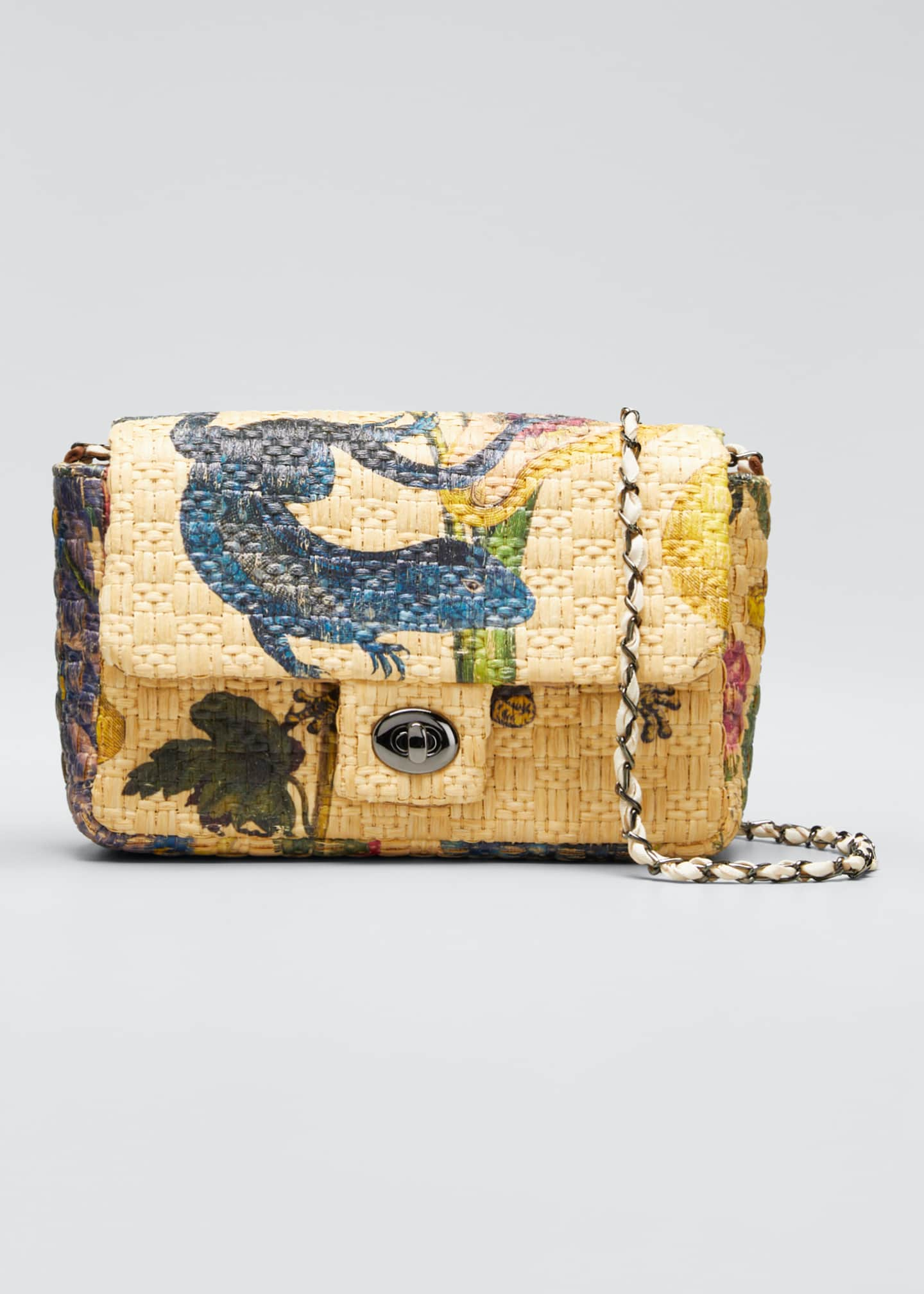 Maria La Rosa Botanic Little Flap-Top Shoulder Bag