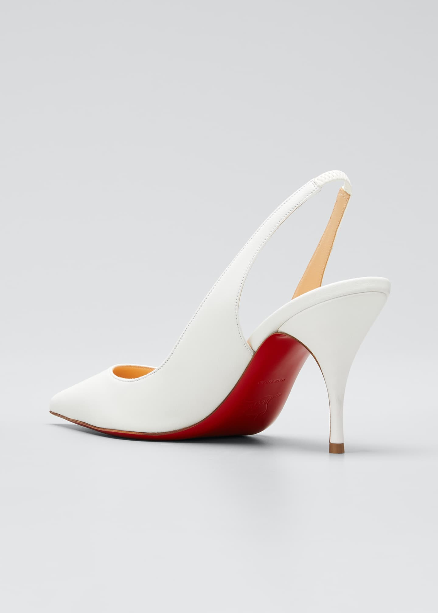 Image 4 of 5: Clare Sling 80 Napa Red Sole Pumps