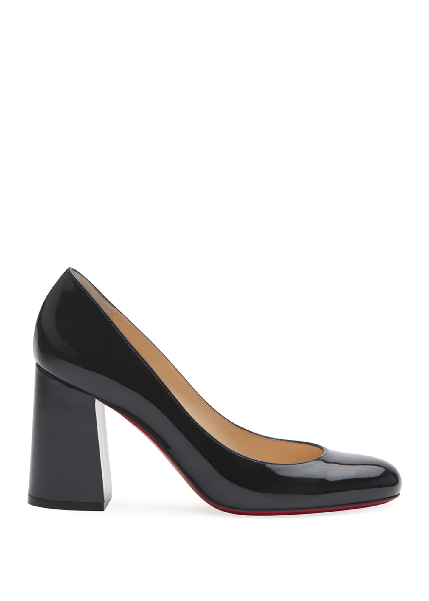 Image 2 of 5: Baobab 85 Patent Red Sole Pumps