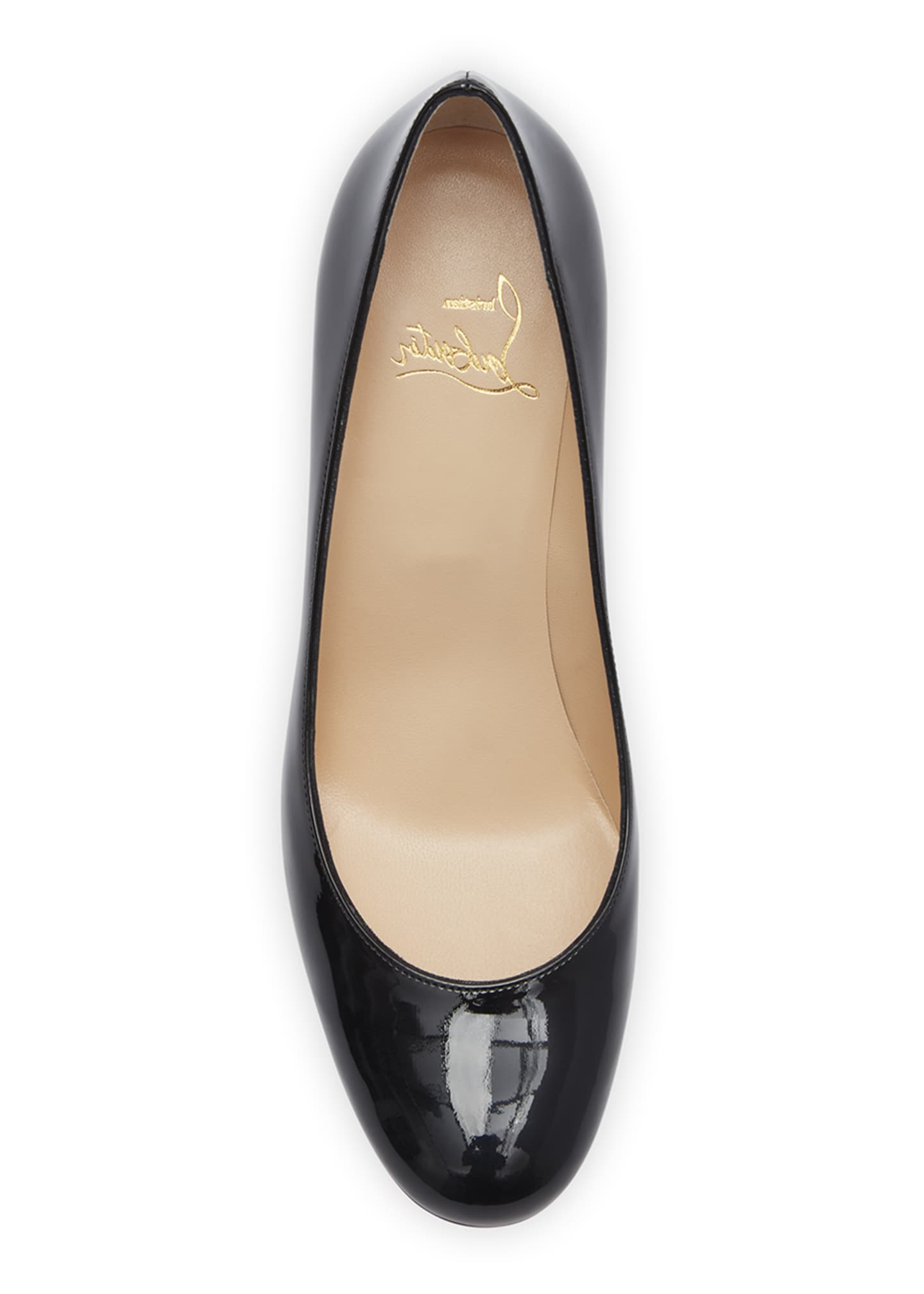 Image 4 of 5: Baobab 85 Patent Red Sole Pumps