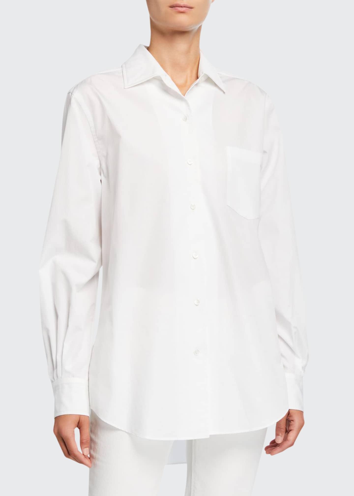 Loro Piana Oversized Poplin Button-Front Shirt