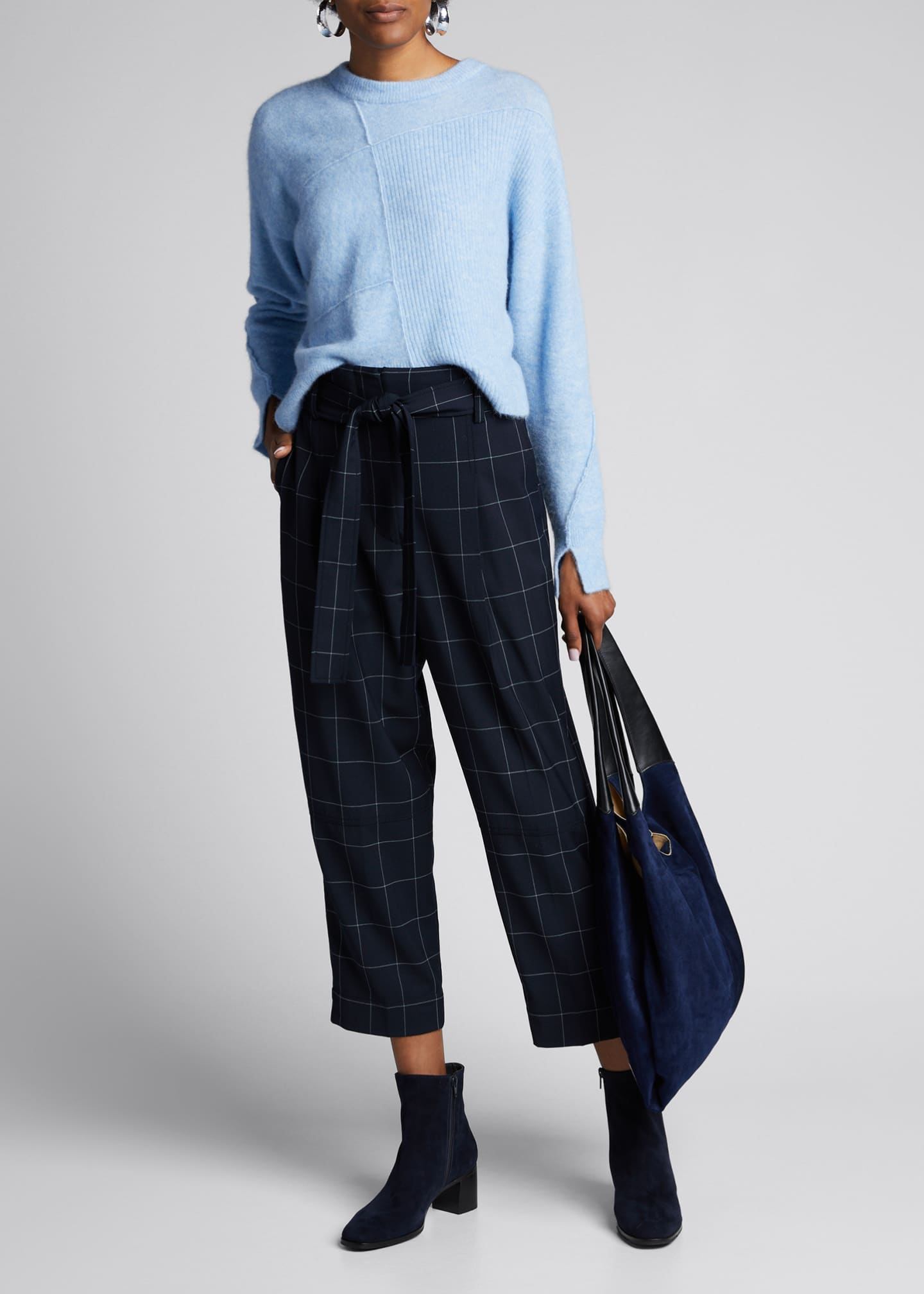 3.1 Phillip Lim Windowpane Belted Menswear Pants