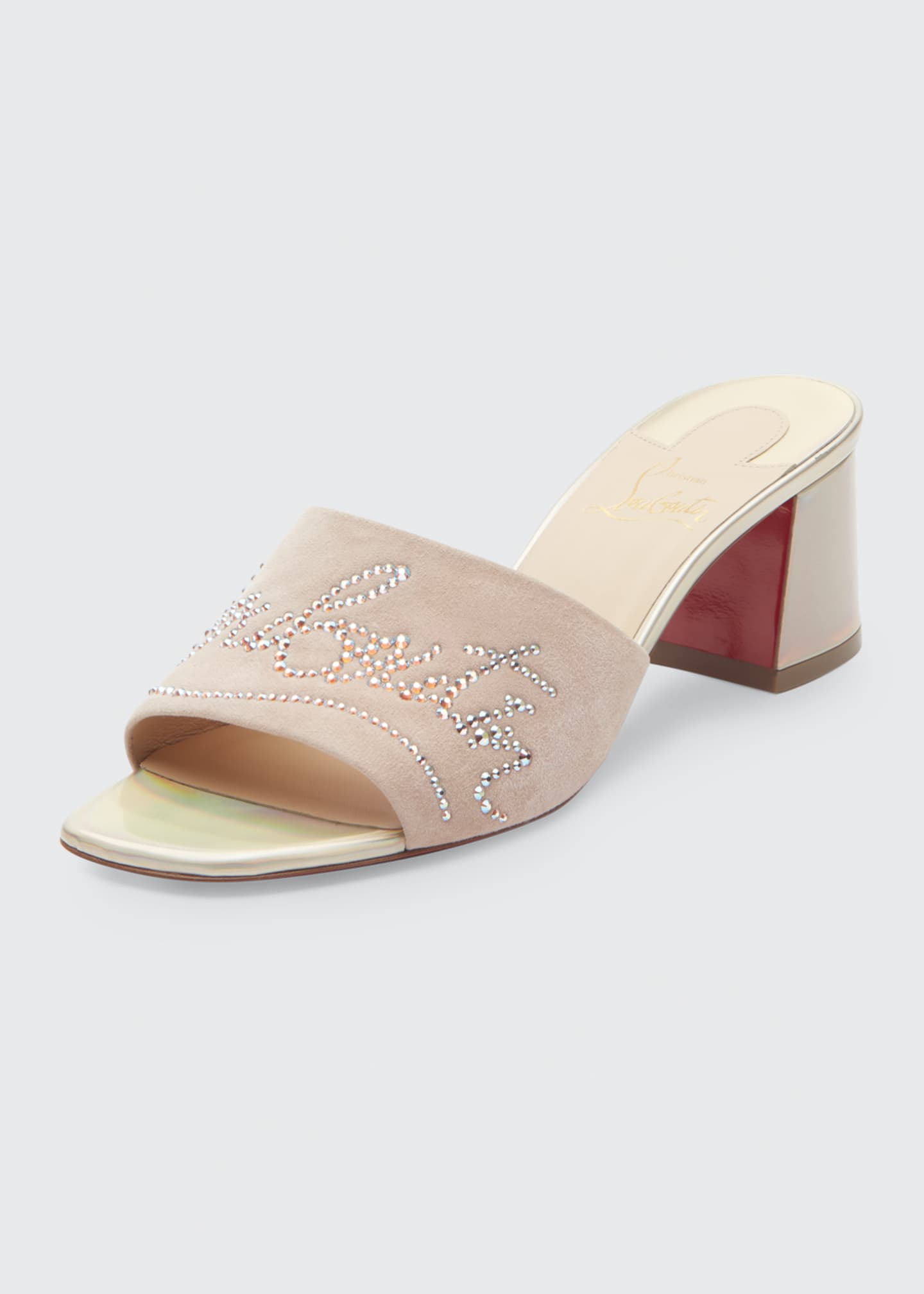 Image 2 of 3: Dear Home 55 Red Sole Slide Sandals