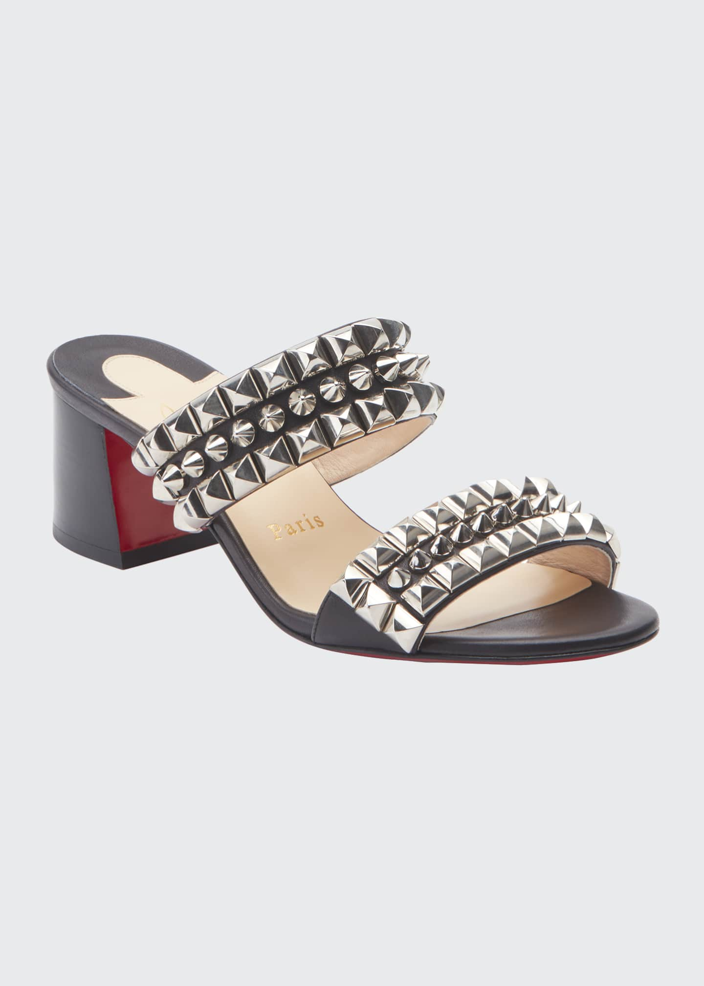 Image 1 of 3: Tina Goes Mad 55 Leather Red Sole Sandals