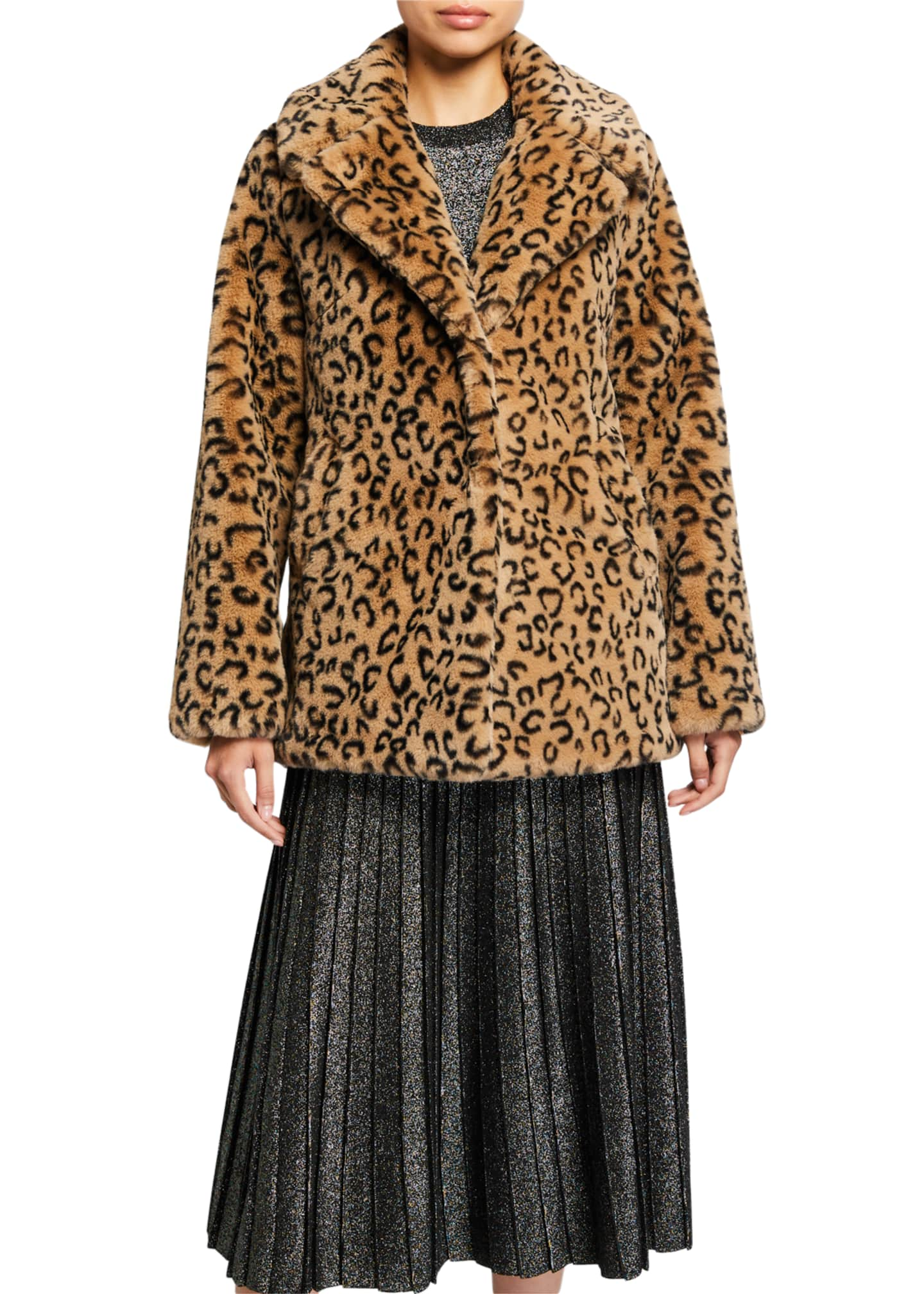 A.L.C. Stone Faux-Fur Coat