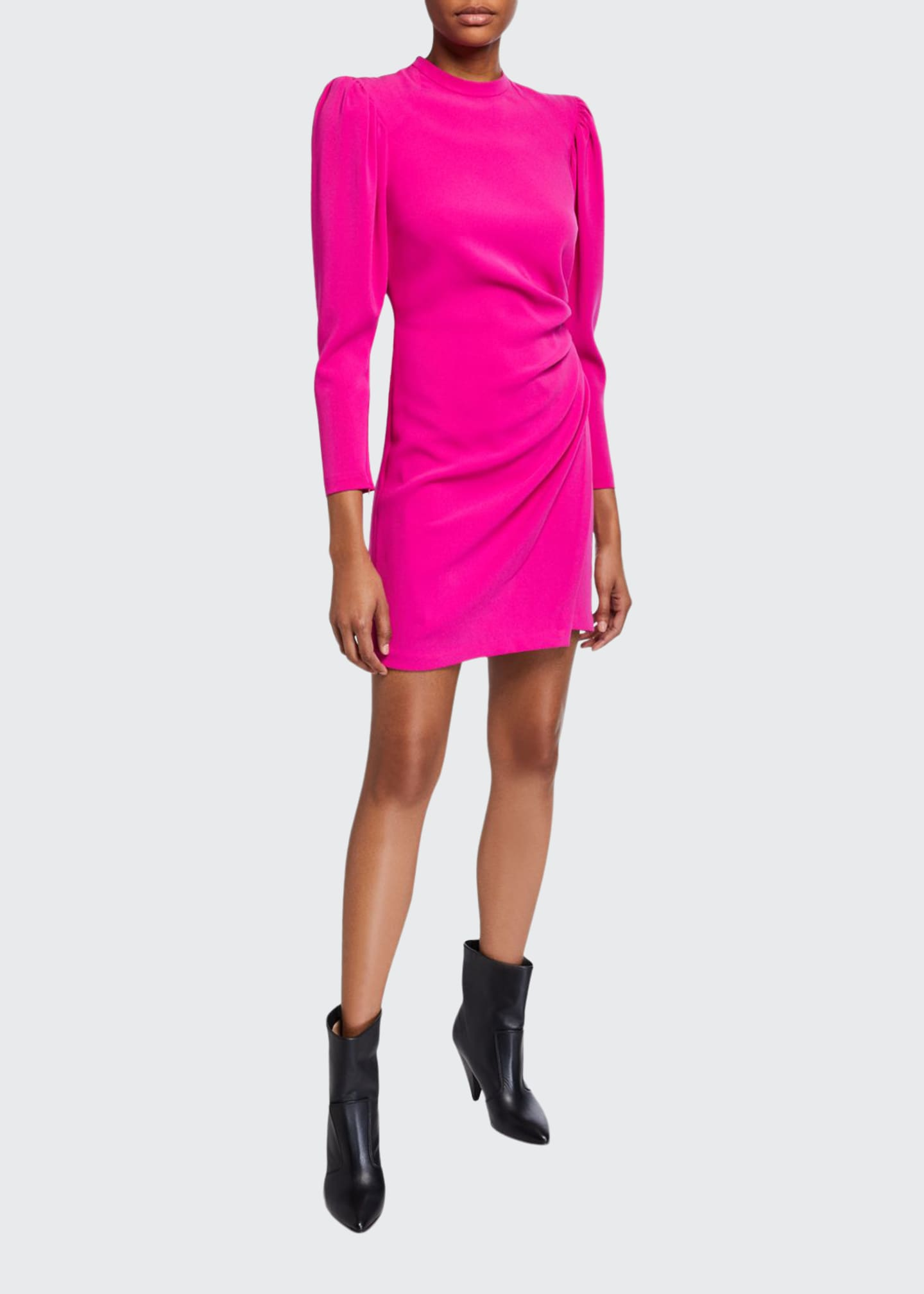 A.L.C. Jane Side-Ruched Long-Sleeve Dress