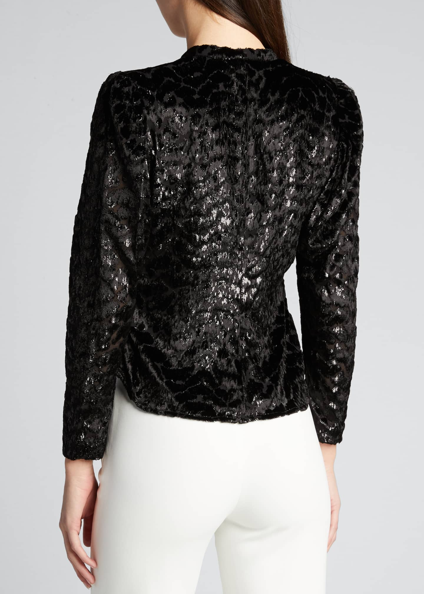 Image 2 of 5: Canyon V-Neck Burnout Velvet Top
