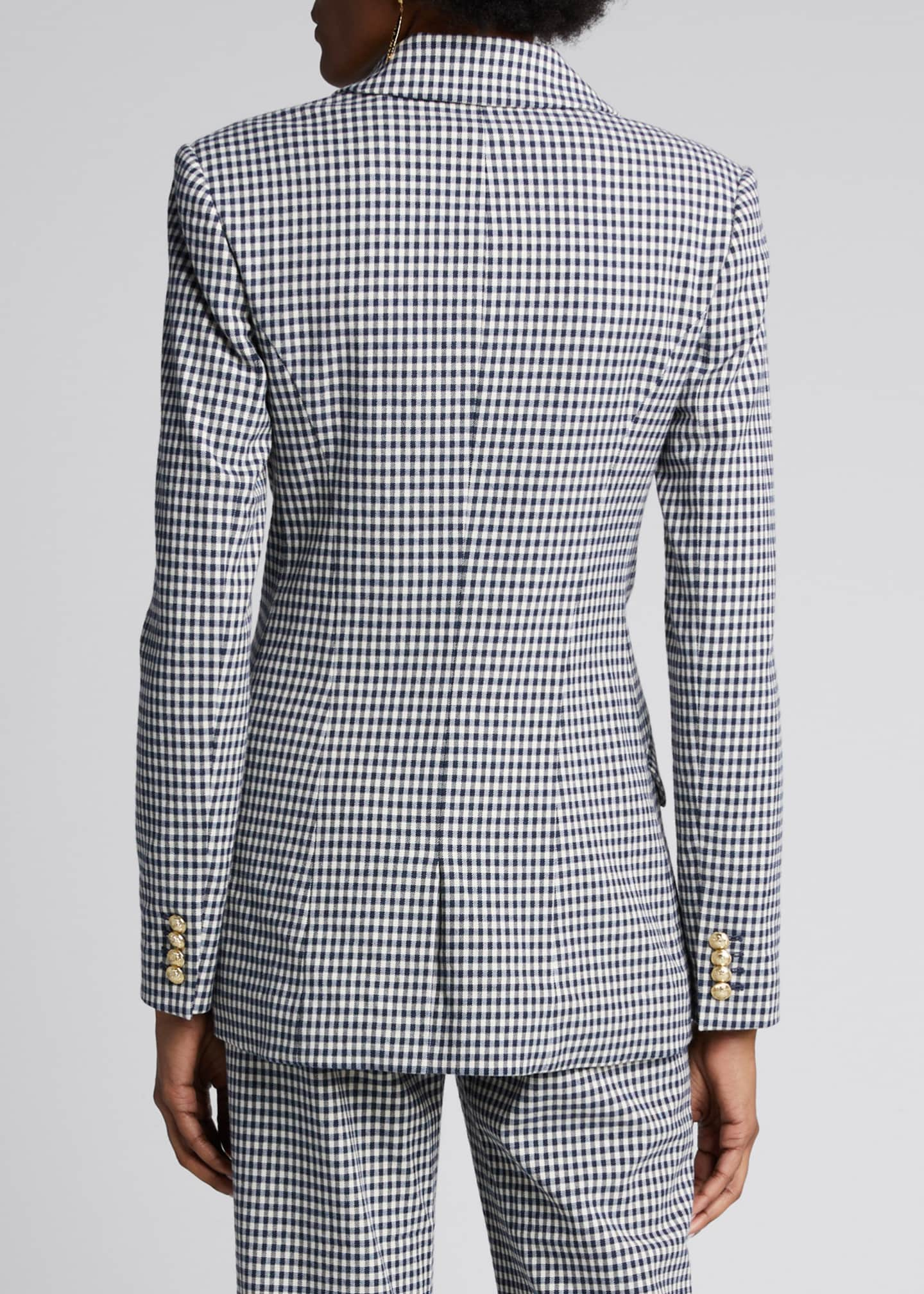 Image 2 of 5: Rodeo Double-Breasted Gingham Blazer
