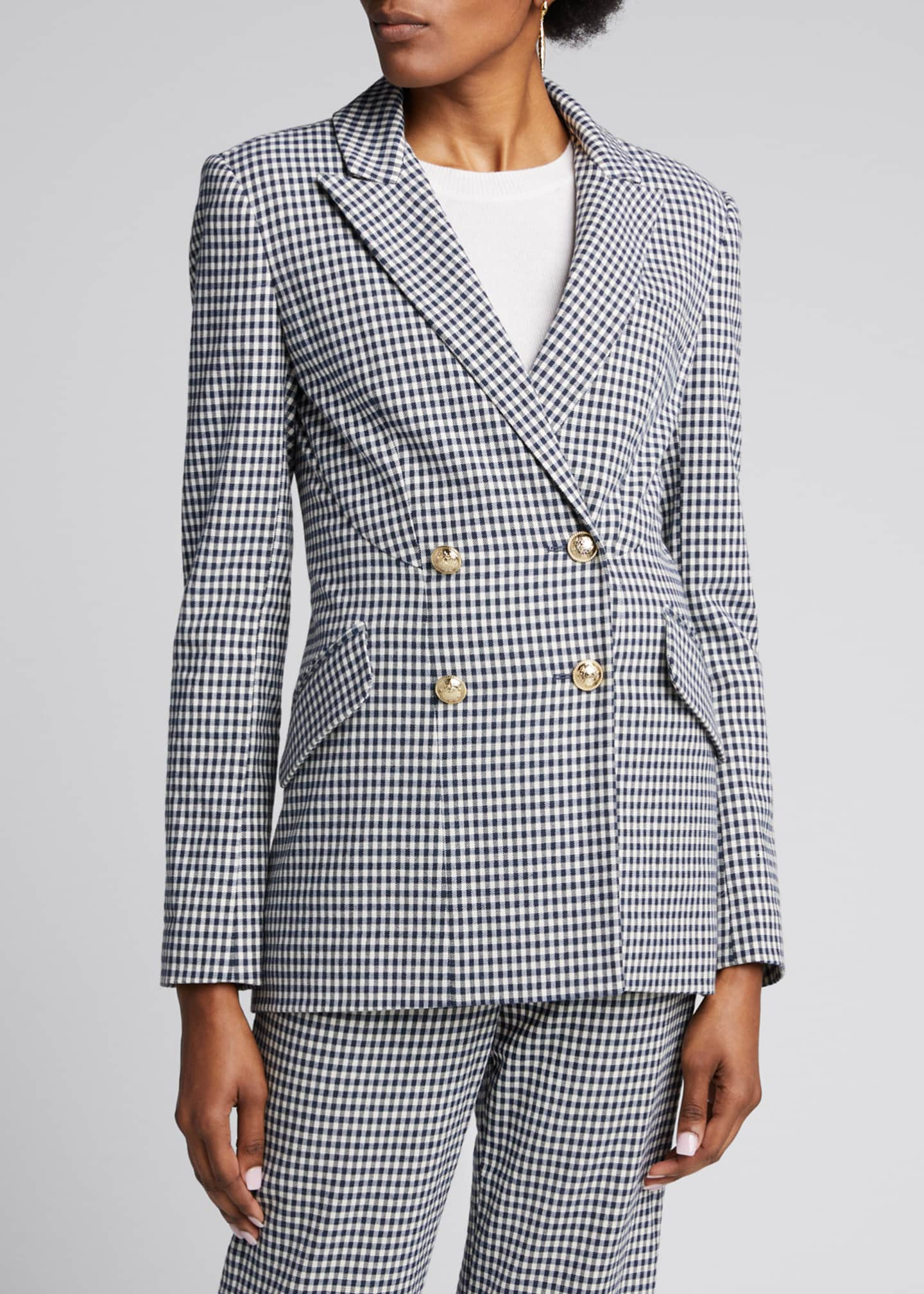 Image 3 of 5: Rodeo Double-Breasted Gingham Blazer