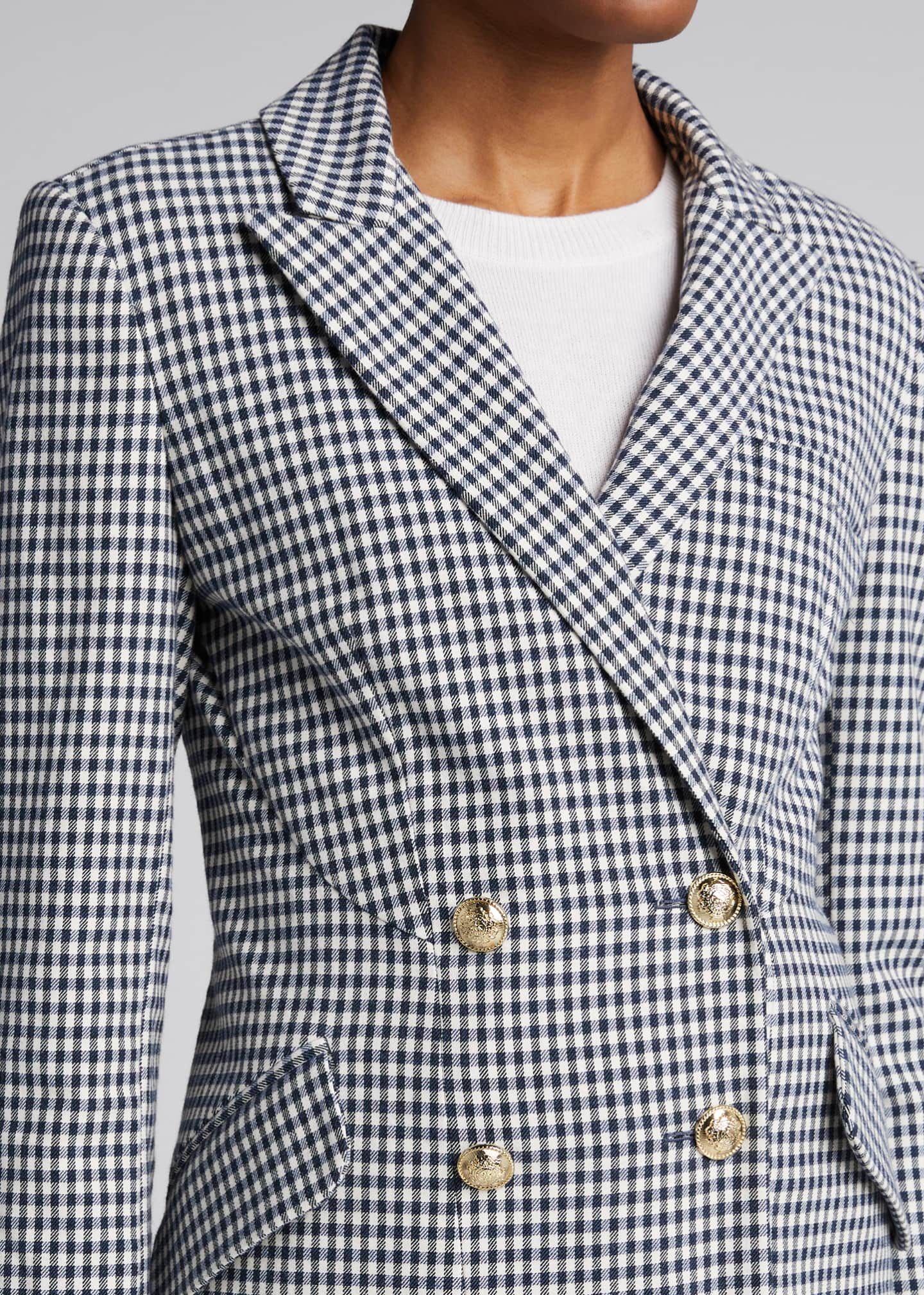 Image 4 of 5: Rodeo Double-Breasted Gingham Blazer