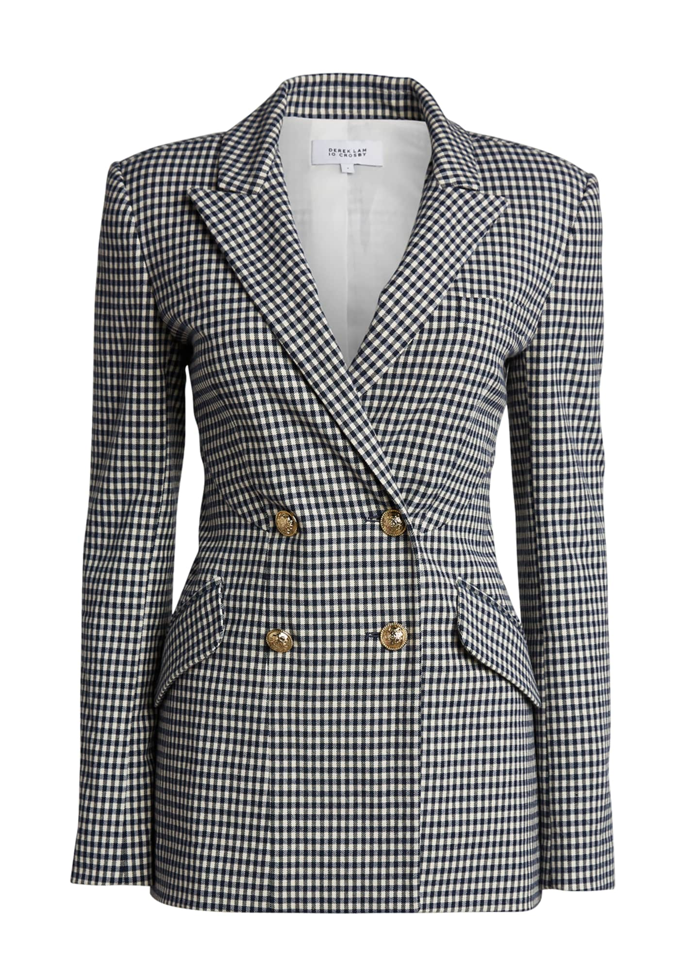 Image 5 of 5: Rodeo Double-Breasted Gingham Blazer
