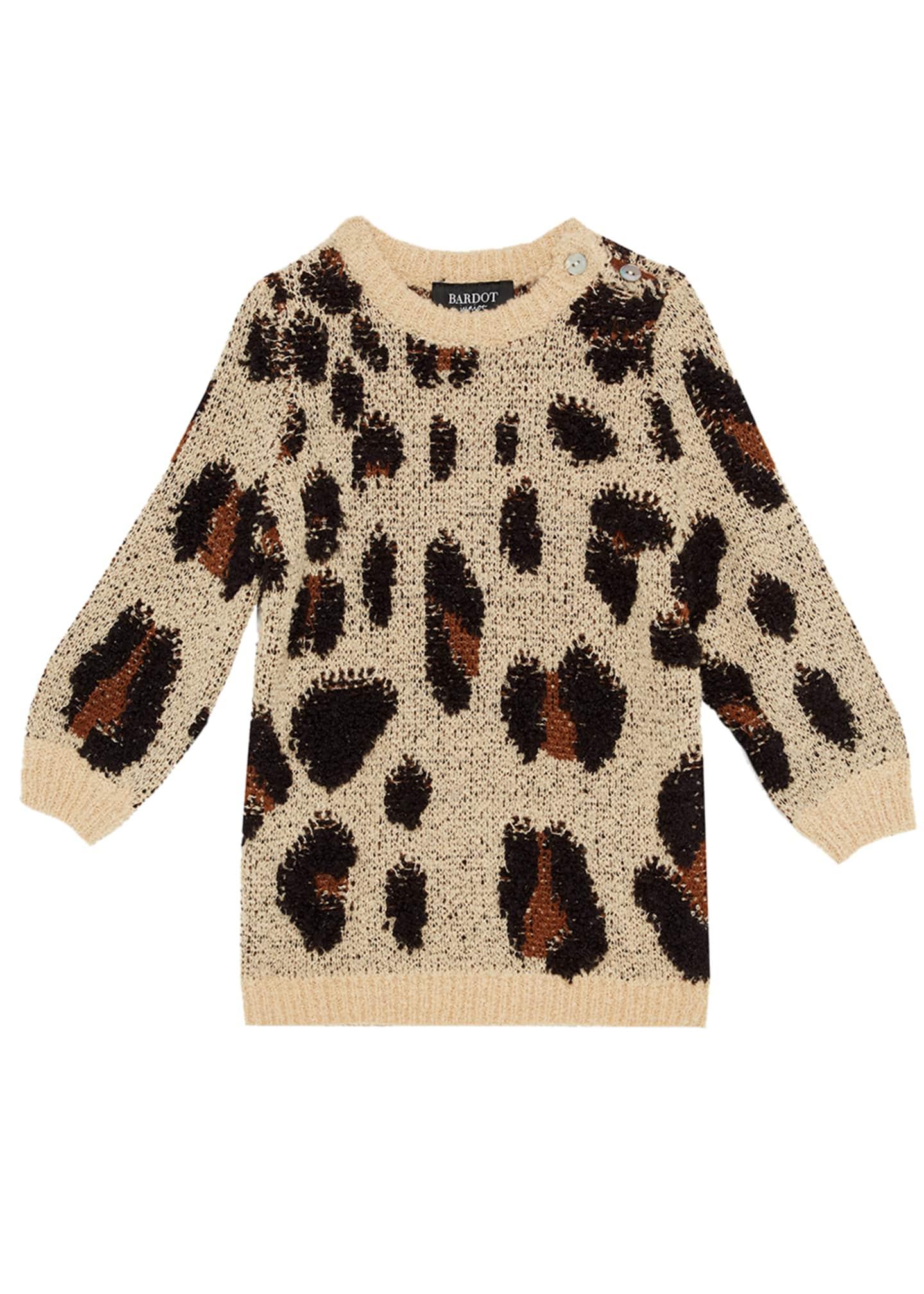 Bardot Junior Girl's Eryn Animal Knit Sweater Dress,