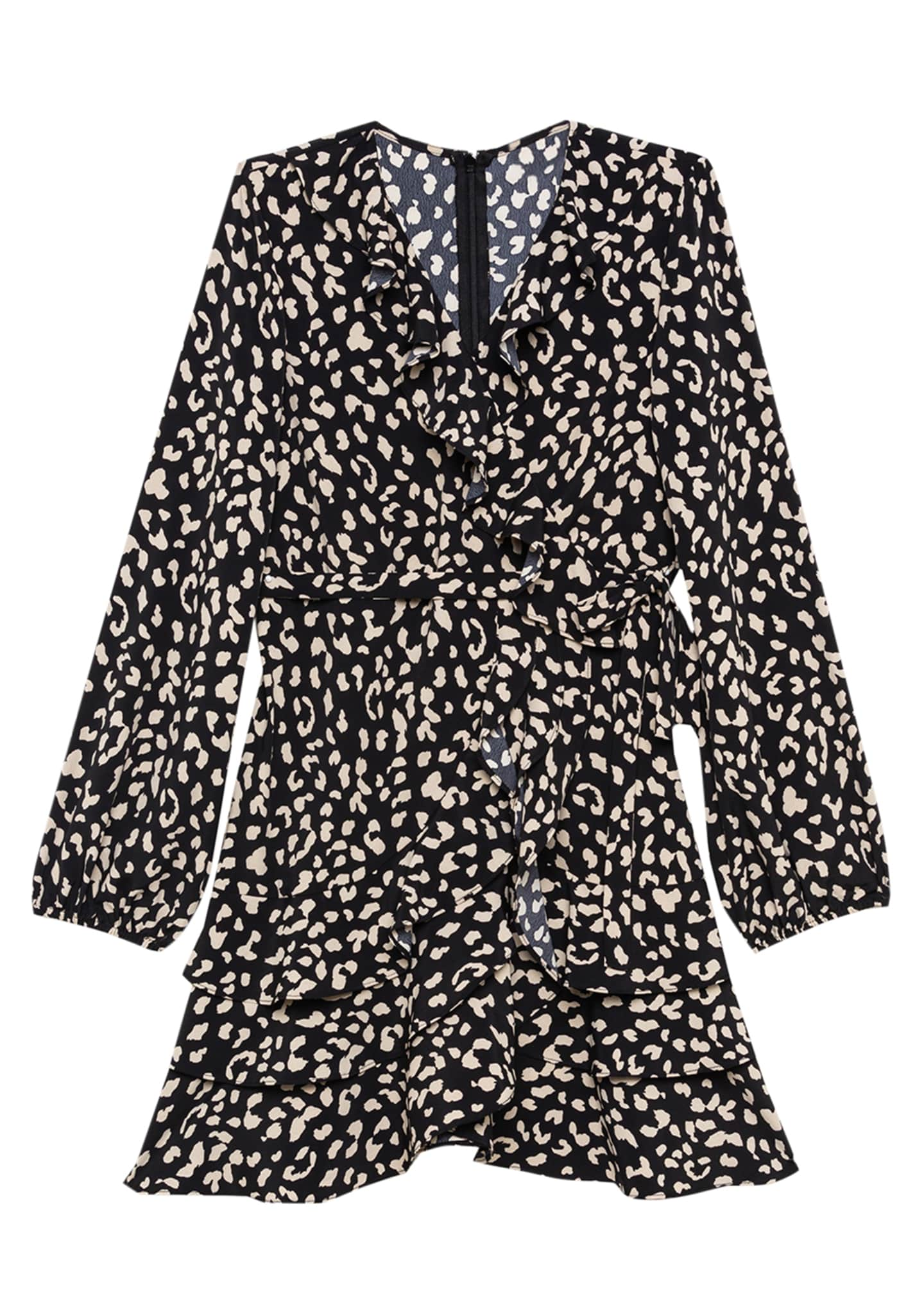 Bardot Junior Girl's Cassidy Animal-Print Wrap Dress, Size