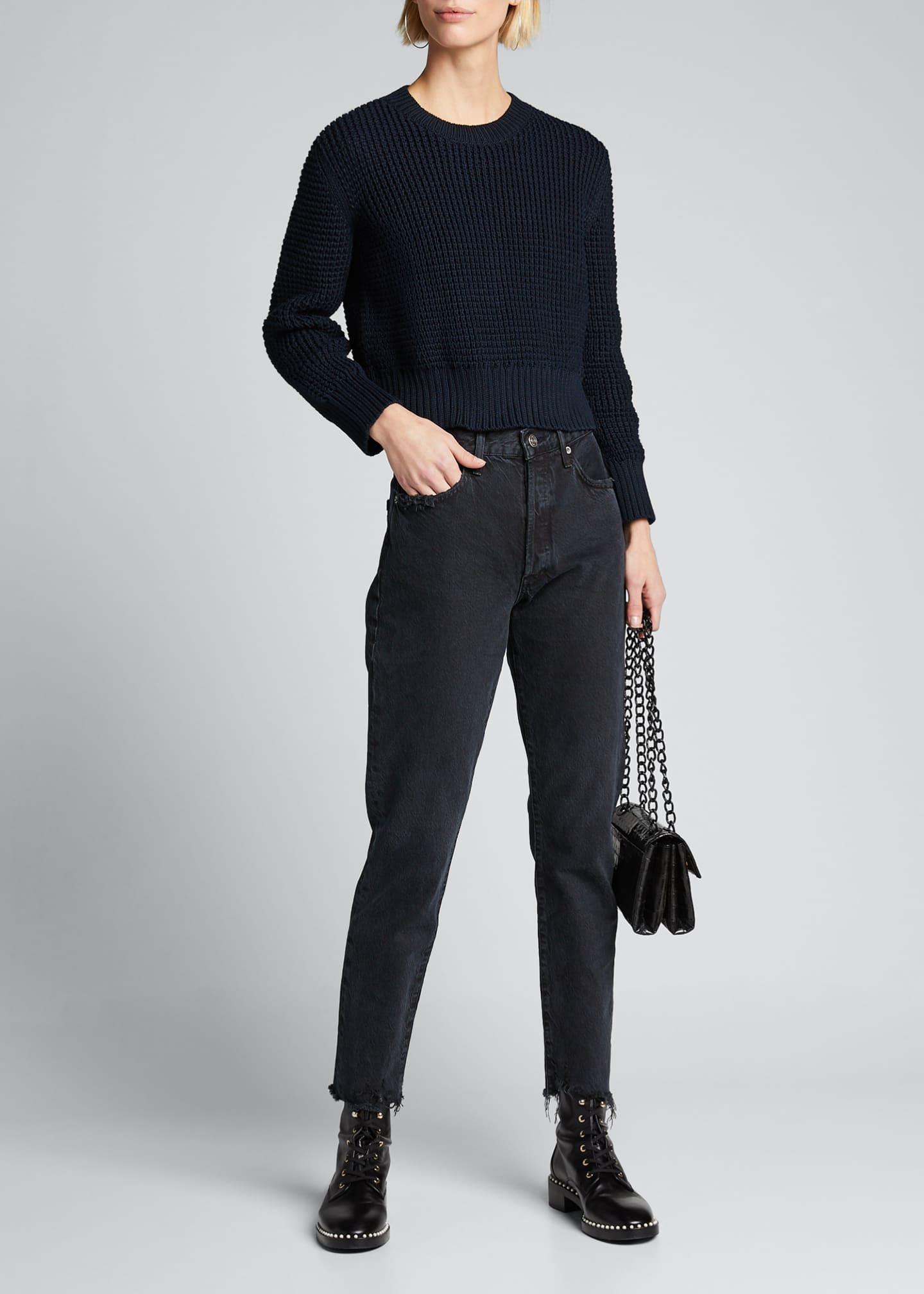 Rachel Comey Theorem Open-Back Cropped Pima Sweater
