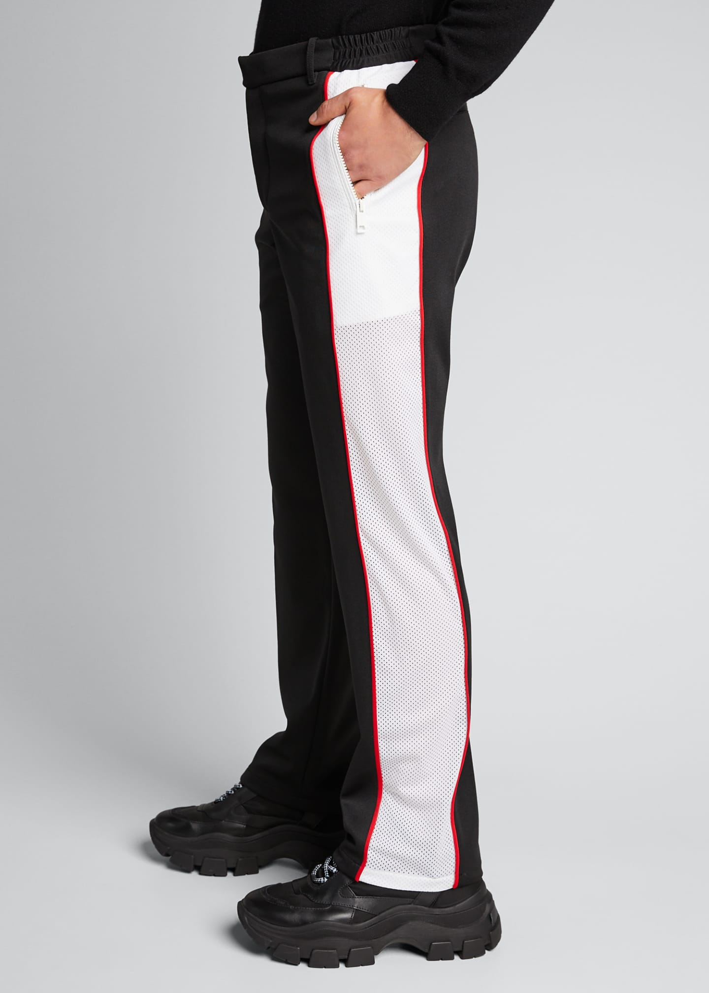 Image 4 of 5: Men's Side-Stripe Track Pants
