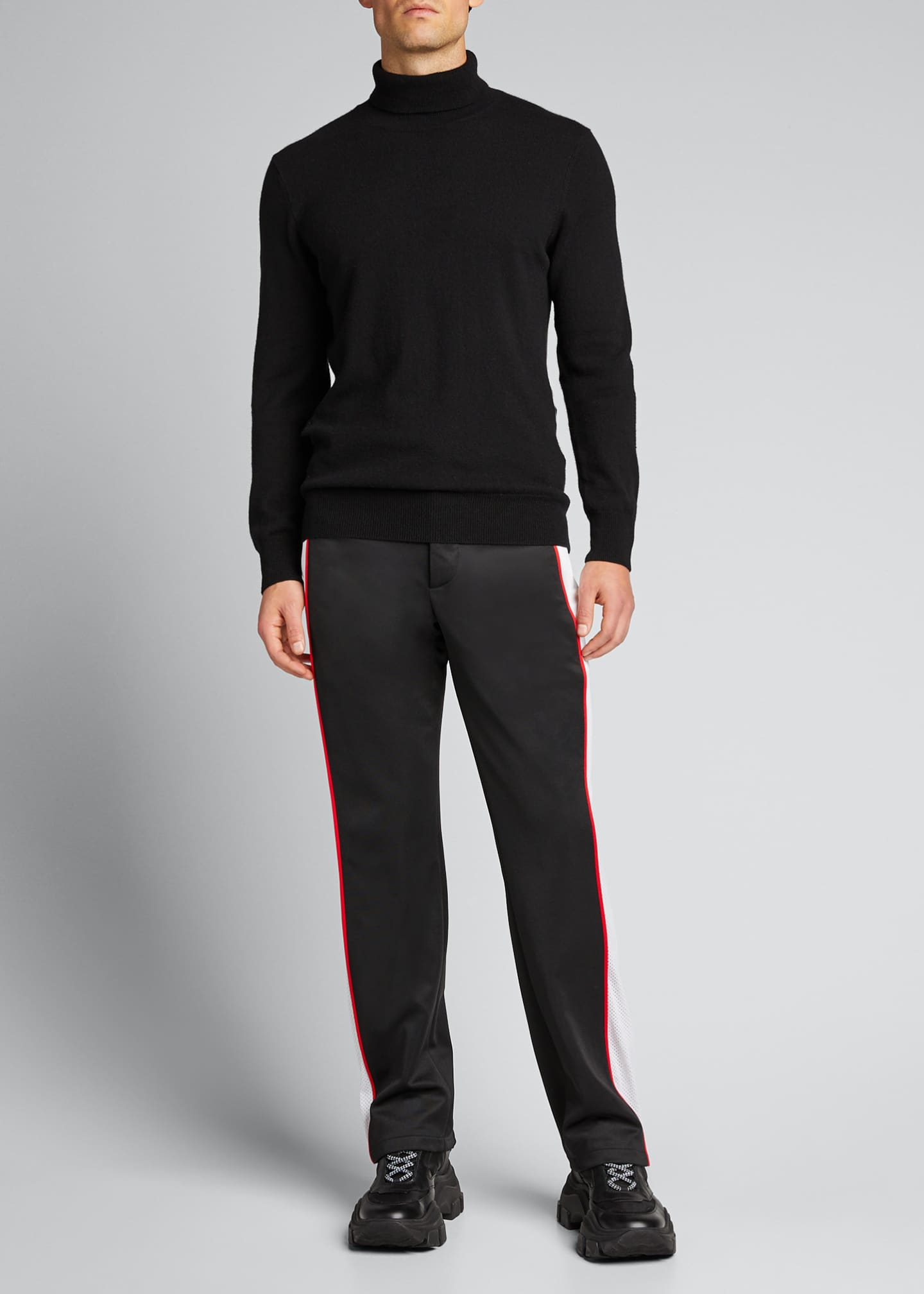 Image 1 of 5: Men's Side-Stripe Track Pants