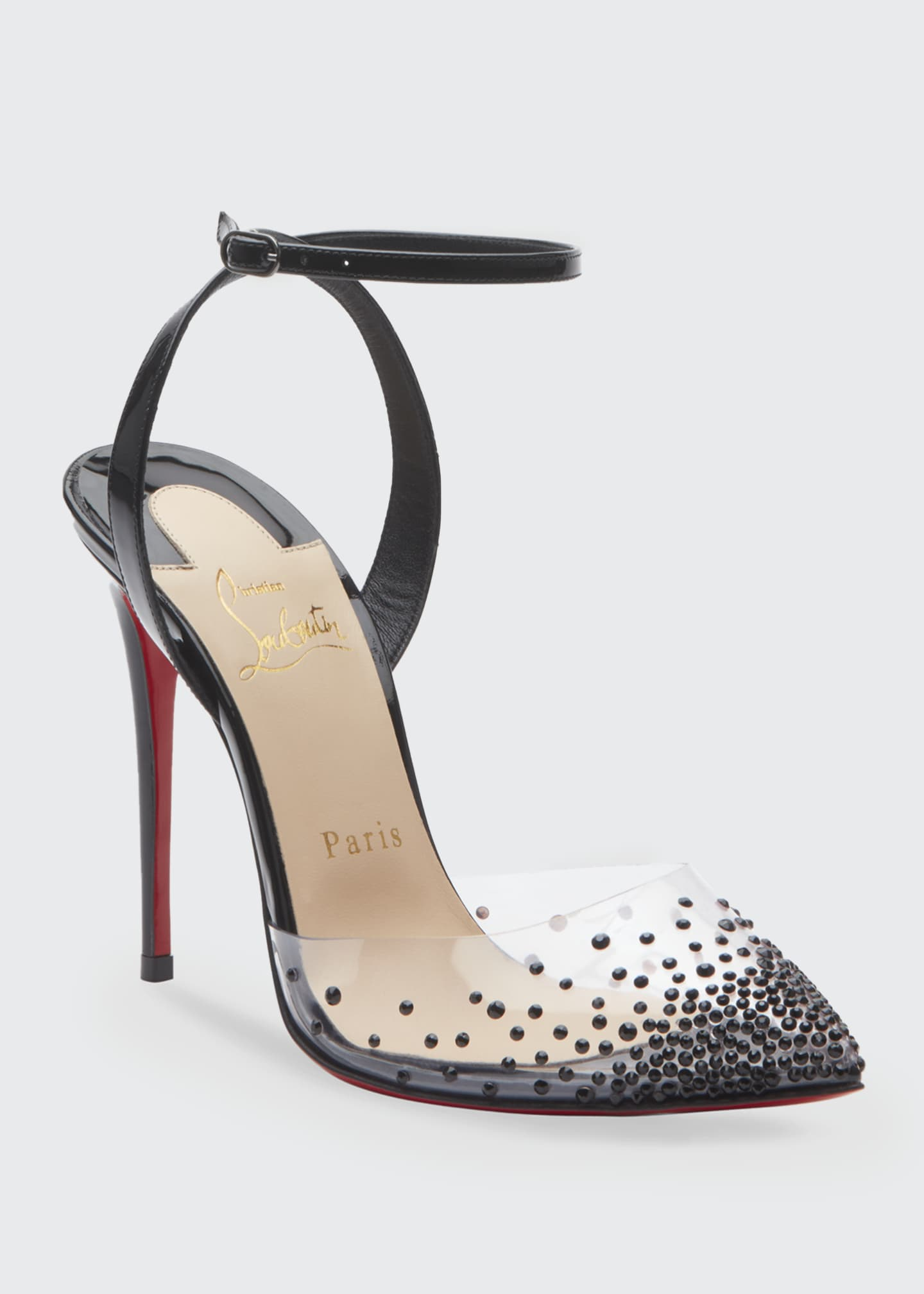 Image 2 of 2: Spikaqueen 100 Red Sole Pumps