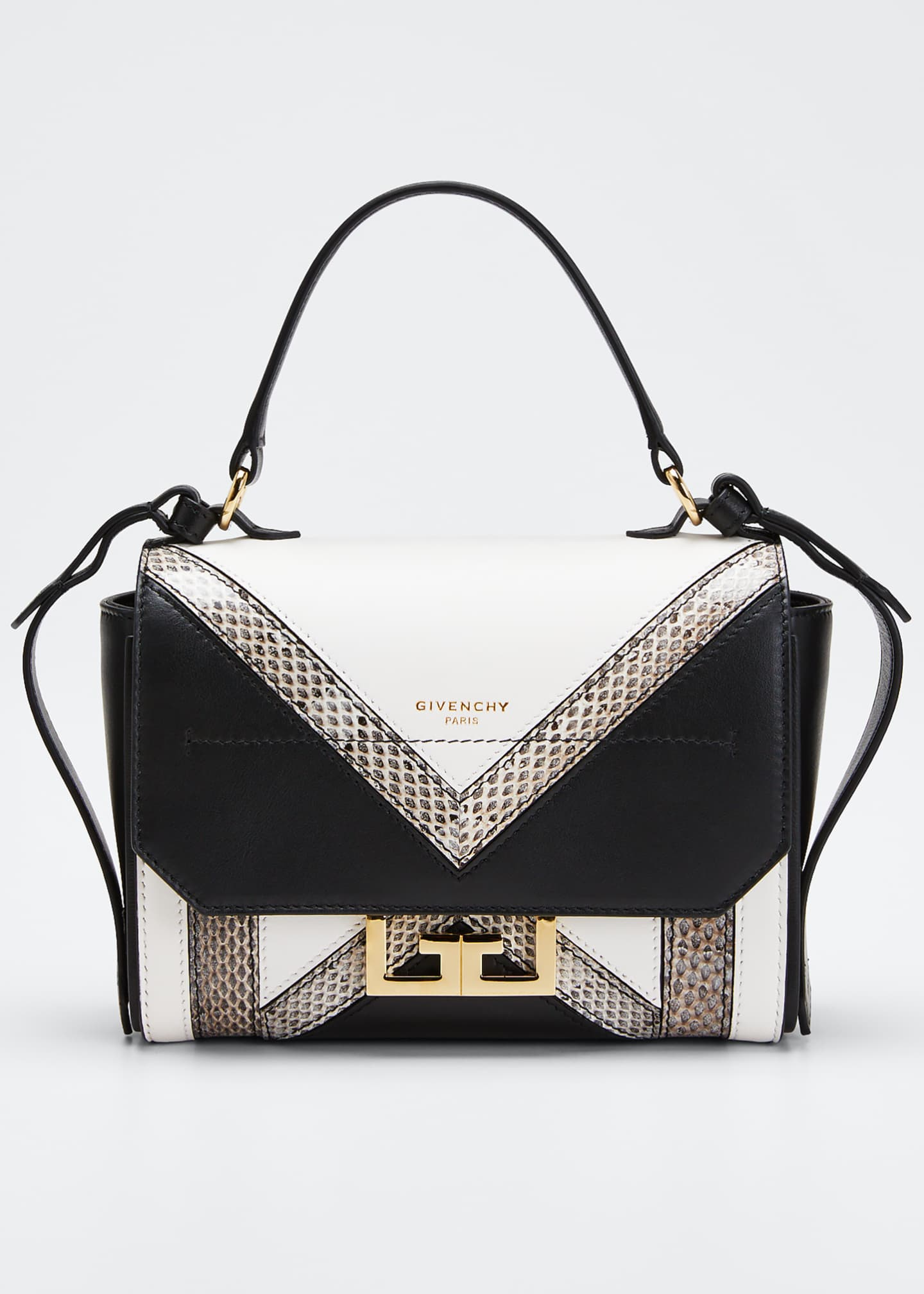 Givenchy Eden Mini Colorblock Snakeskin Shoulder Bag