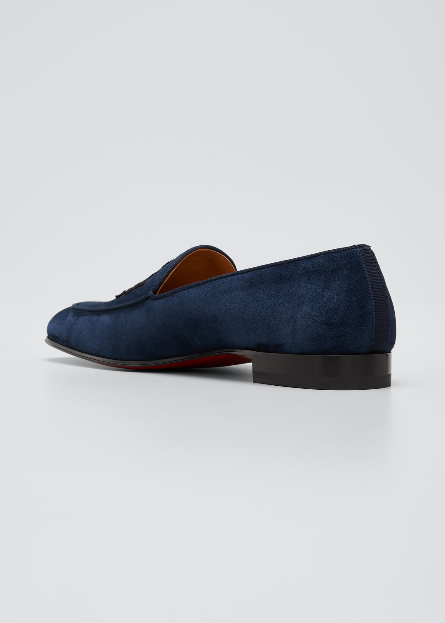 Image 2 of 4: Men's Crest on the Nile Suede Red Sole Loafers