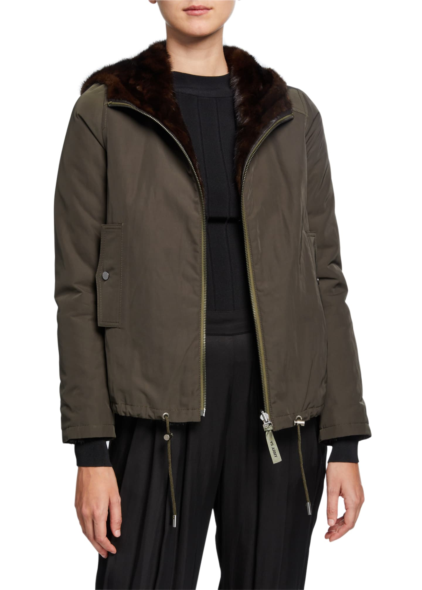 Army By Yves Salomon Reversible Mink Fur Jacket
