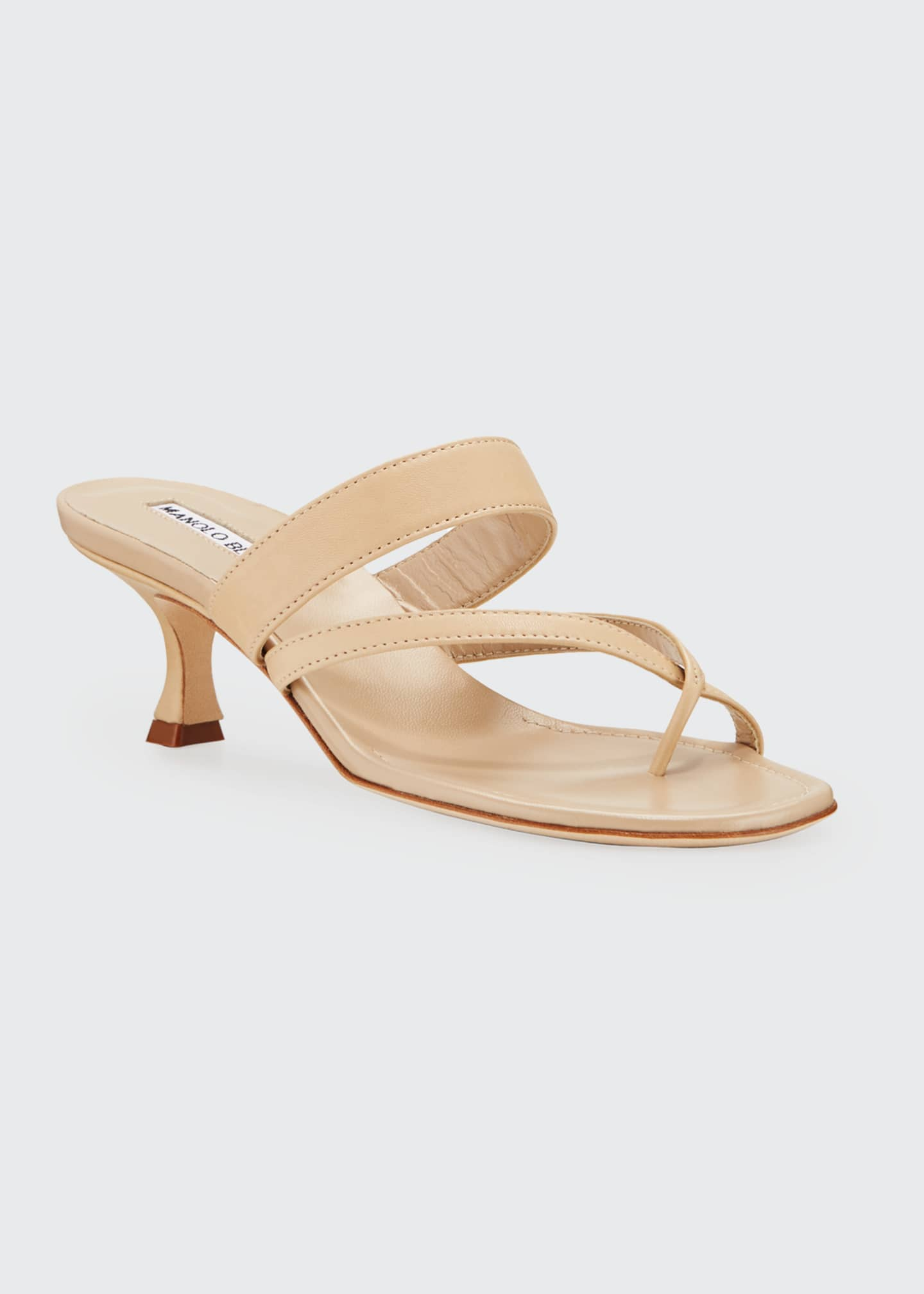 Image 2 of 3: Susa Strappy Leather Slide Sandals