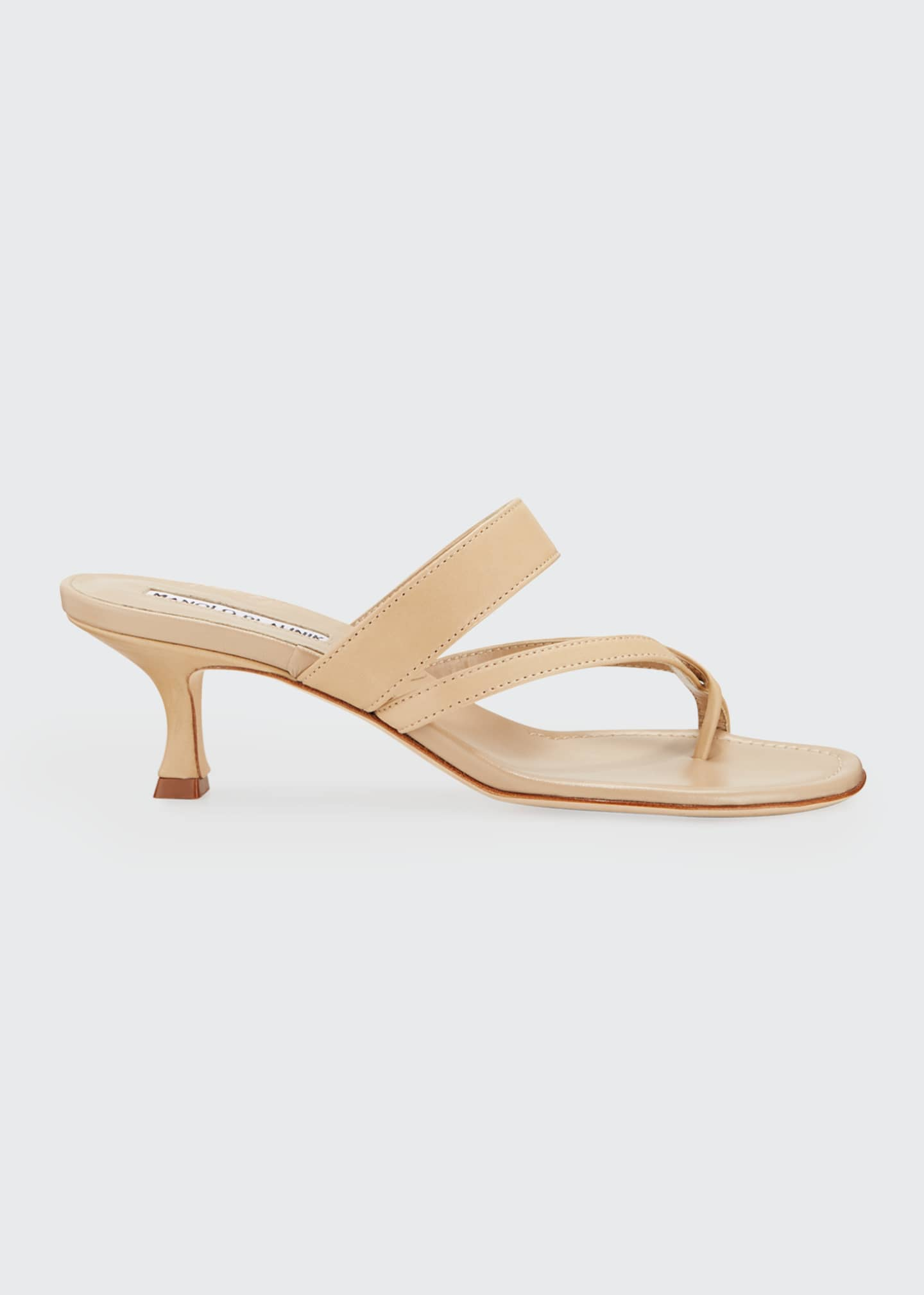 Image 1 of 3: Susa Strappy Leather Slide Sandals