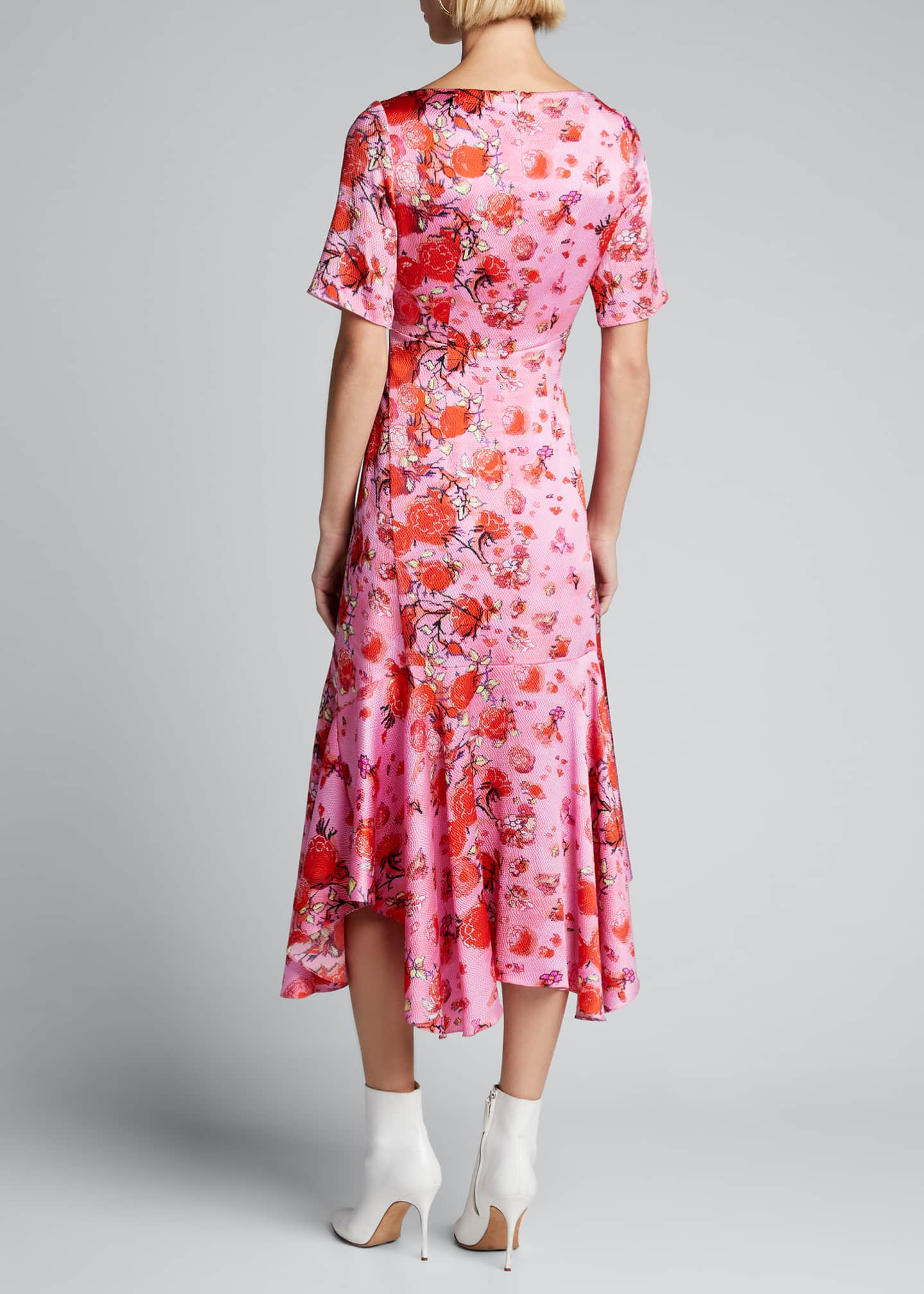 Image 2 of 5: Floral Drop-Waist Midi Dress