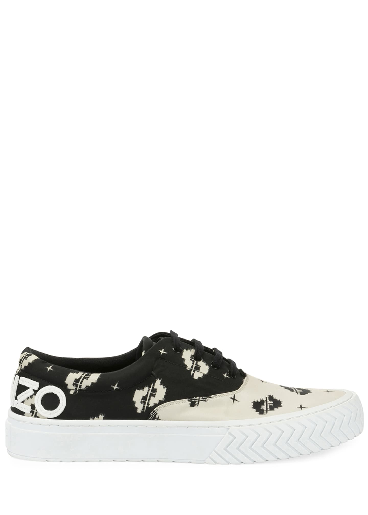 Image 4 of 4: Men's K-Skate Two-Tone Patterned Sneakers