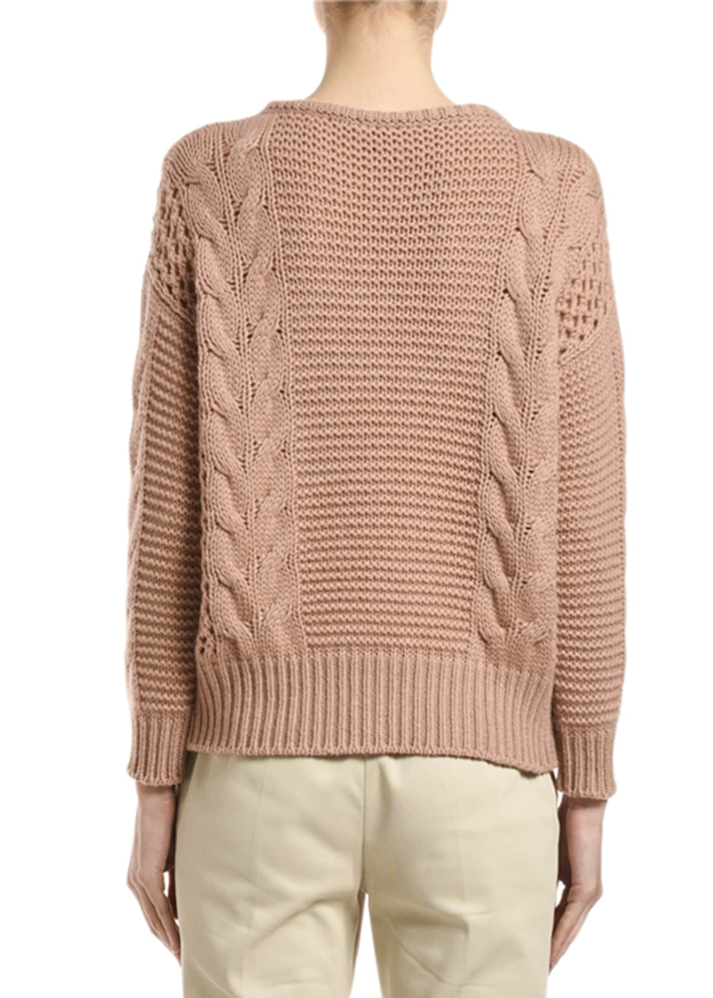 Image 2 of 2: Cashmere Cable-Knit Sweater