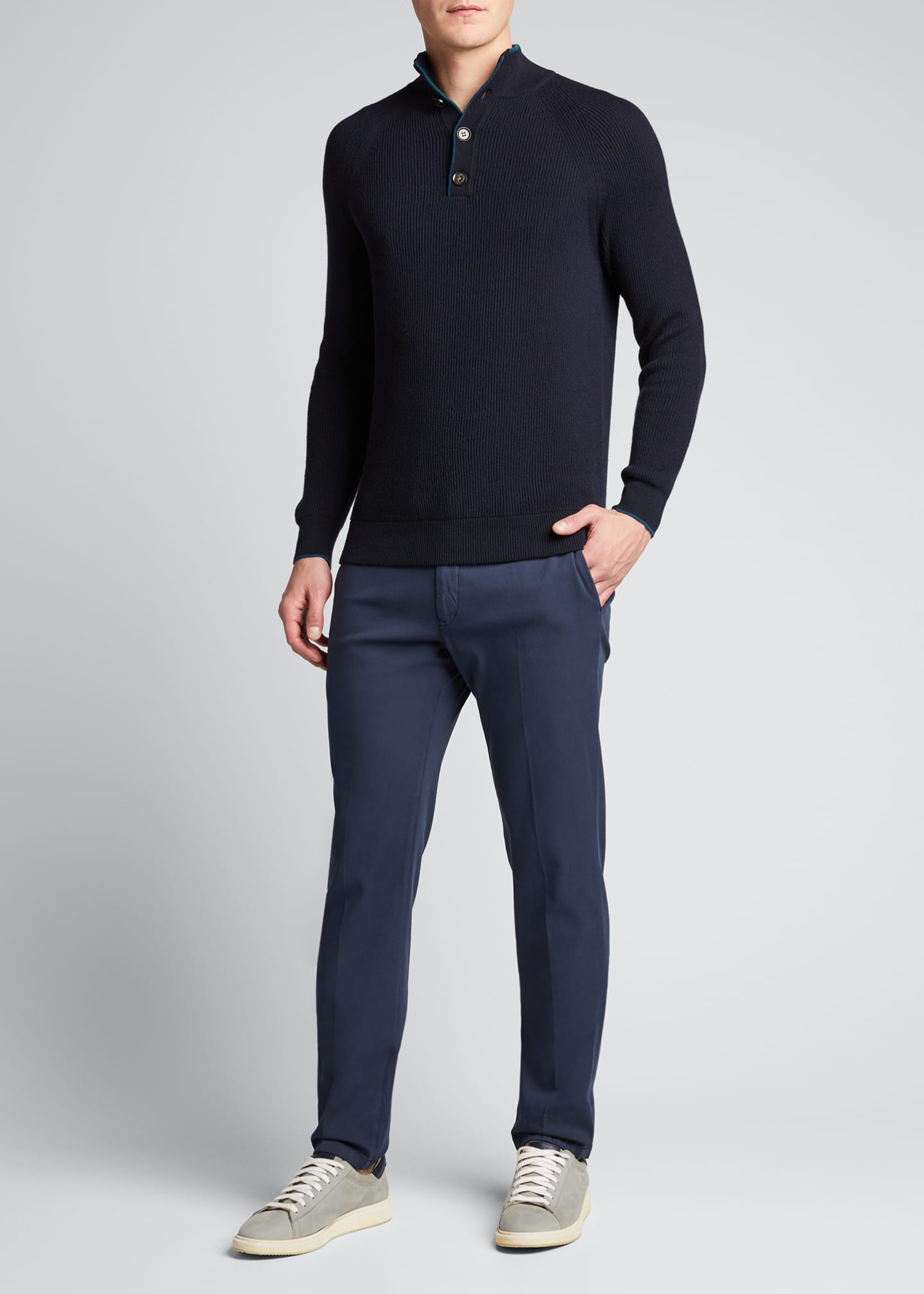 Image 1 of 5: Men's Riverside Mezzocolo Cashmere Sweater