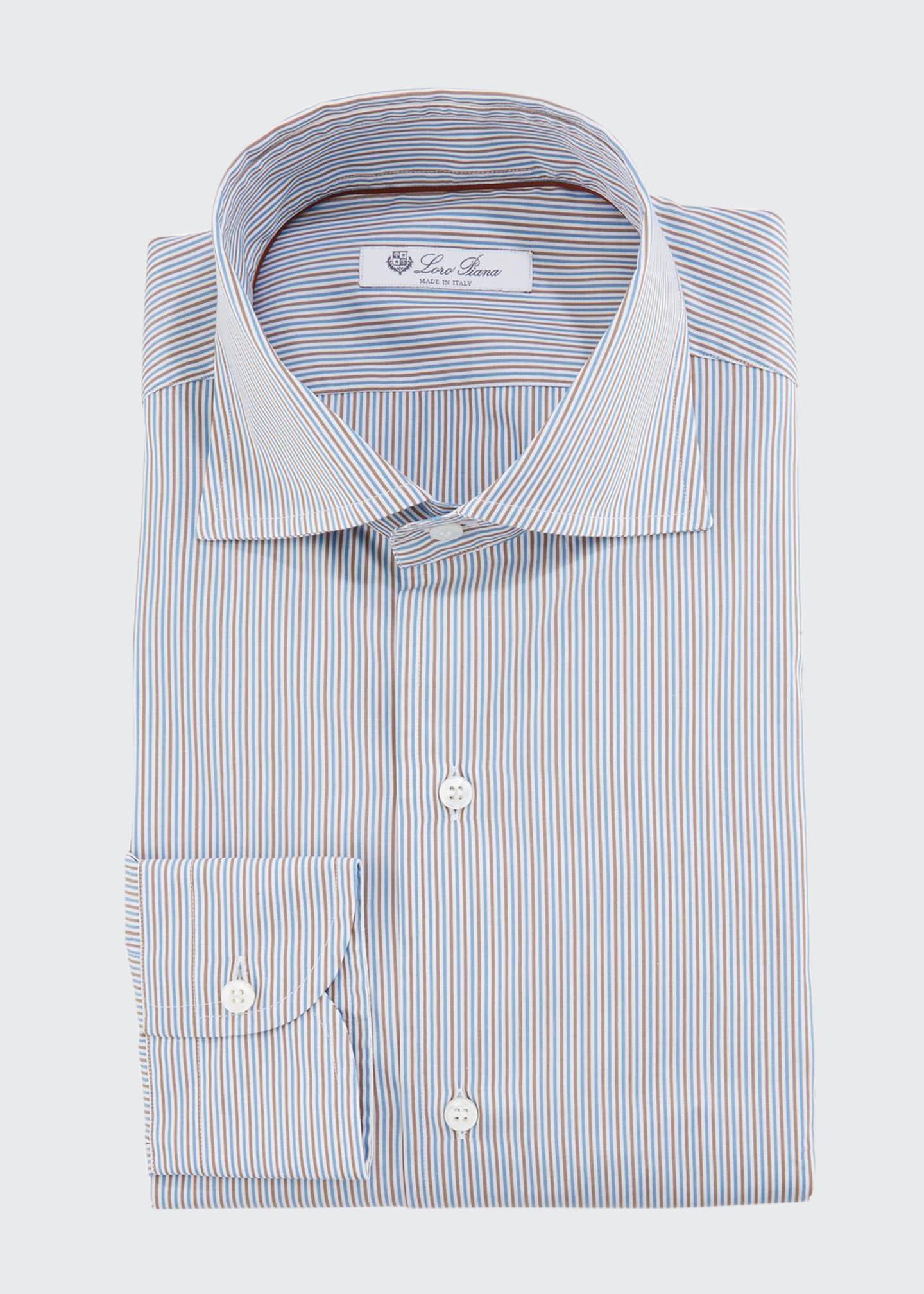 Loro Piana Men's Striped Slim-Fit Dress Shirt