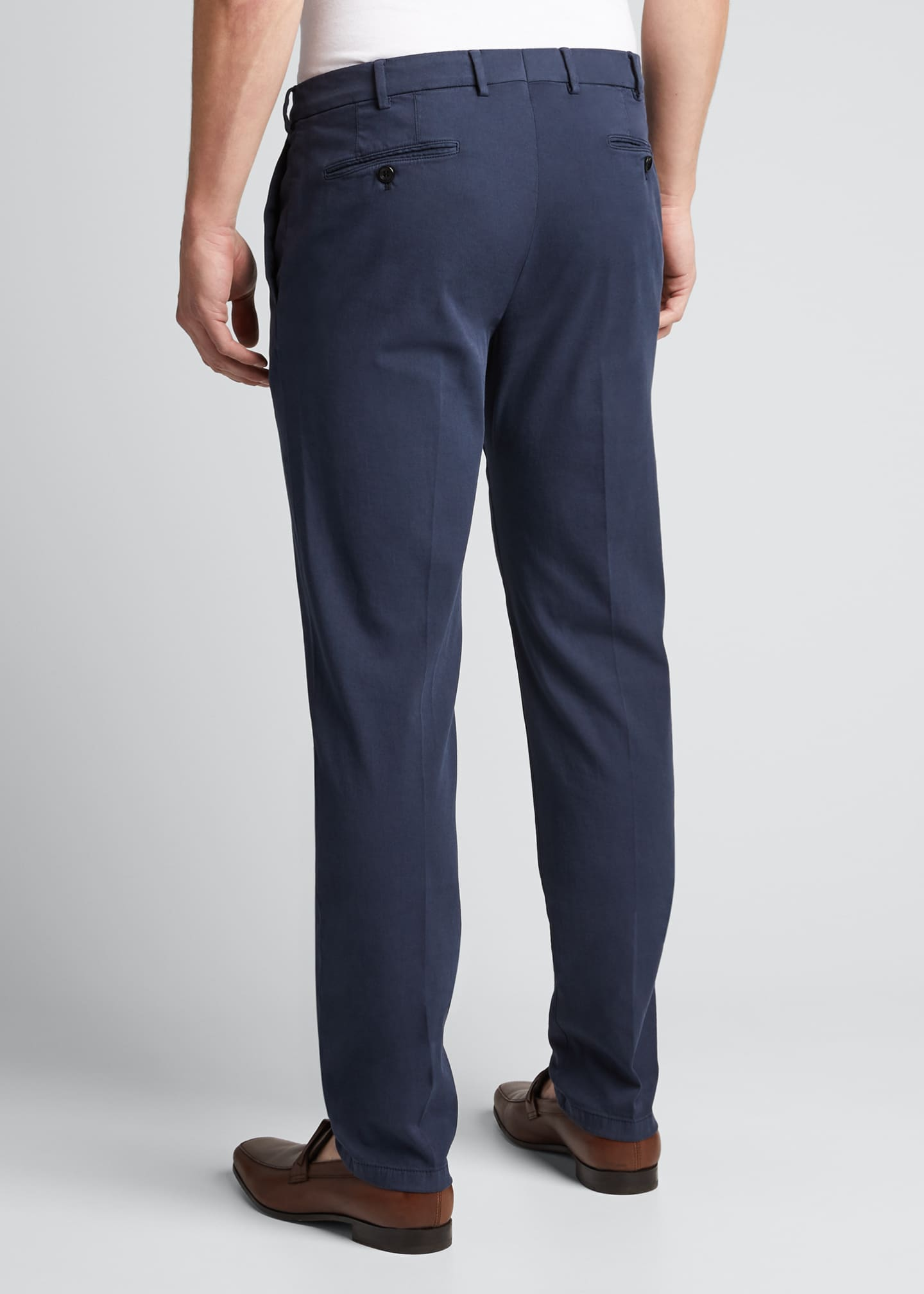 Image 2 of 4: Men's Slim Straight-Leg Stretch-Cotton Pants