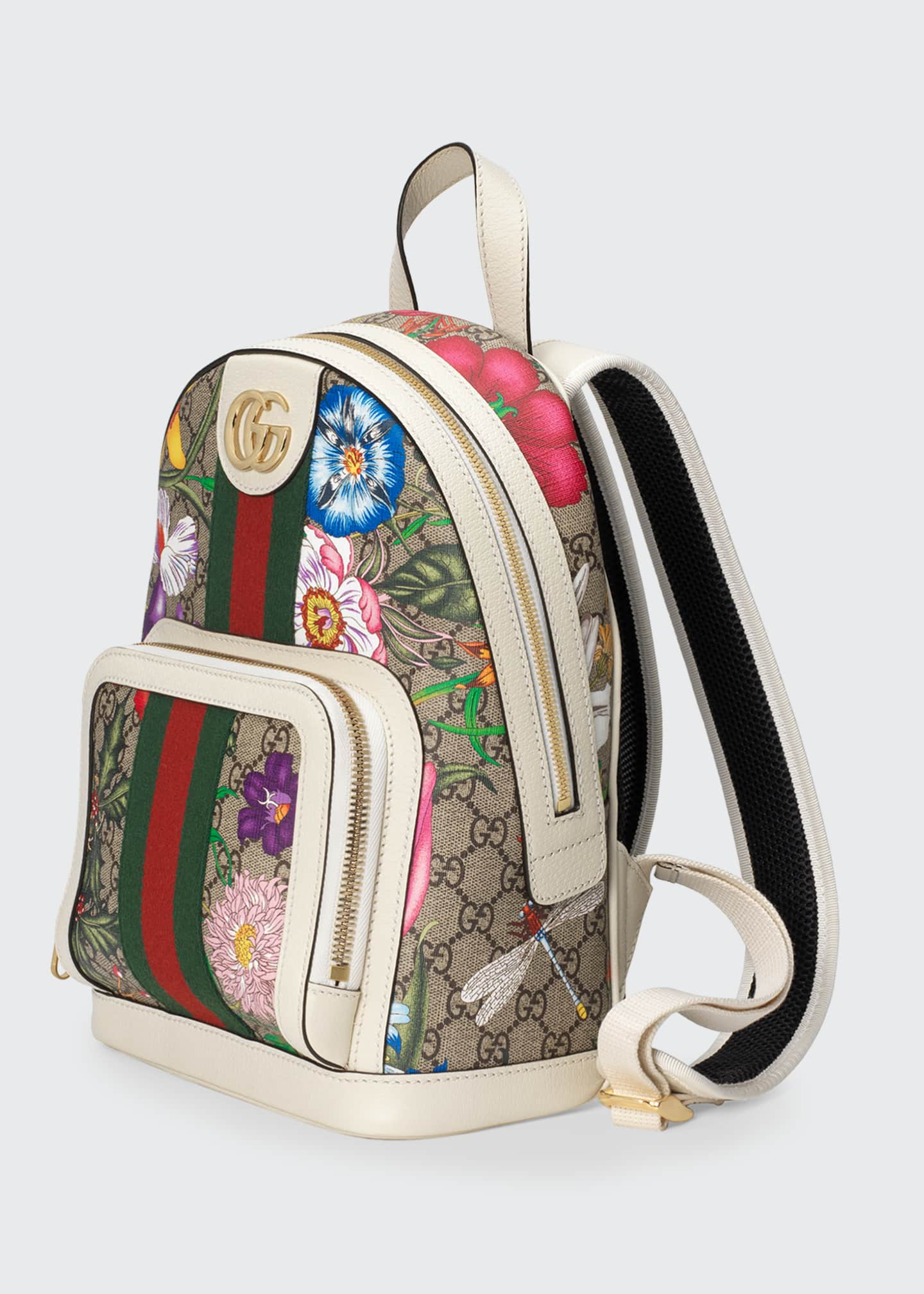Image 4 of 4: Ophidia Small GG Supreme Flora Backpack
