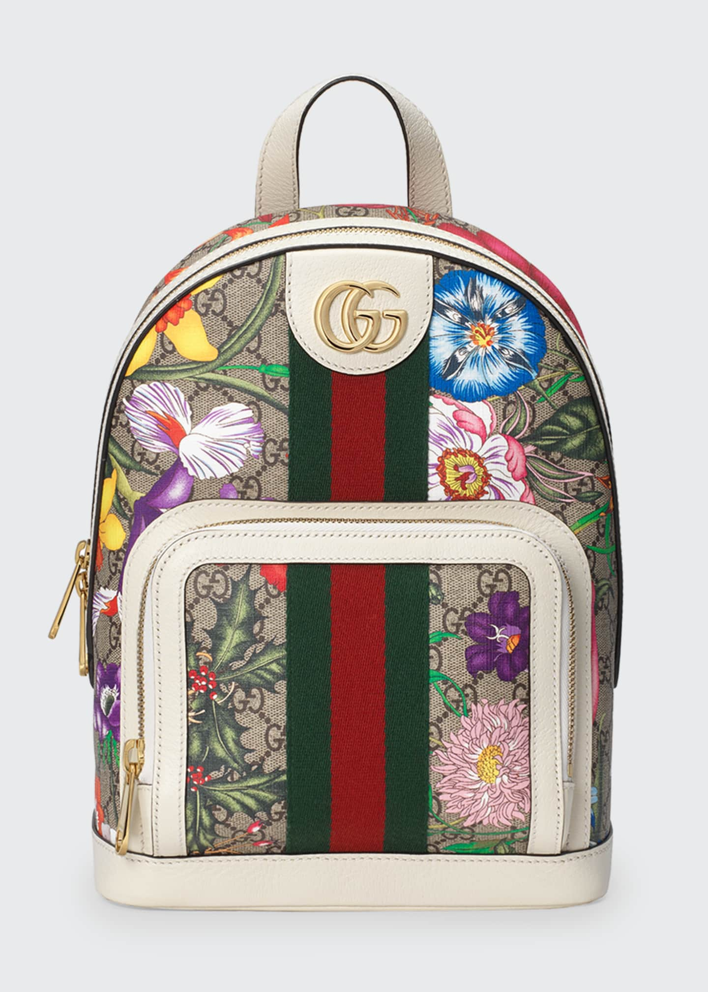 Image 1 of 4: Ophidia Small GG Supreme Flora Backpack