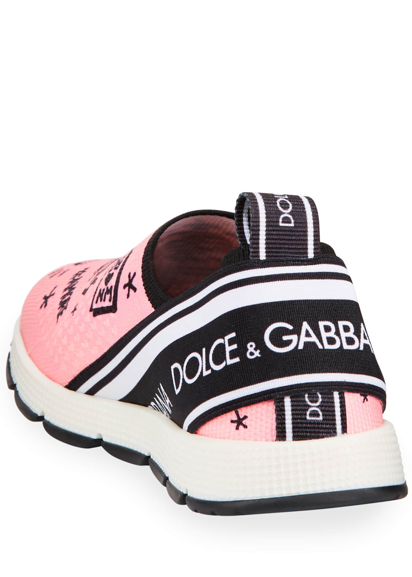 Image 3 of 3: DG + NM Maglina Slip-On Knit Logo-Patch Sneakers, Kids