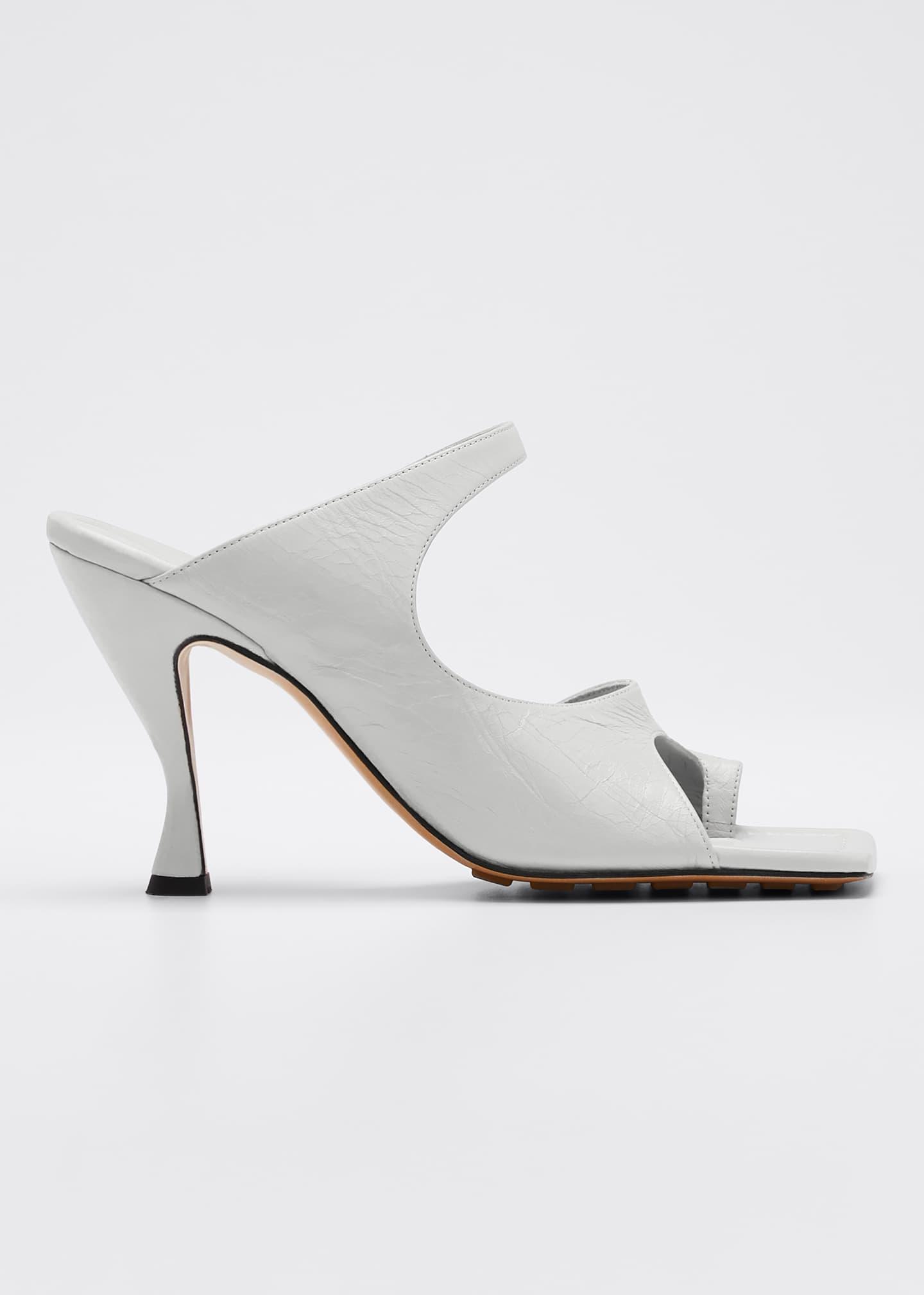 Bottega Veneta Crunch Lux Open-Square Mule Sandals