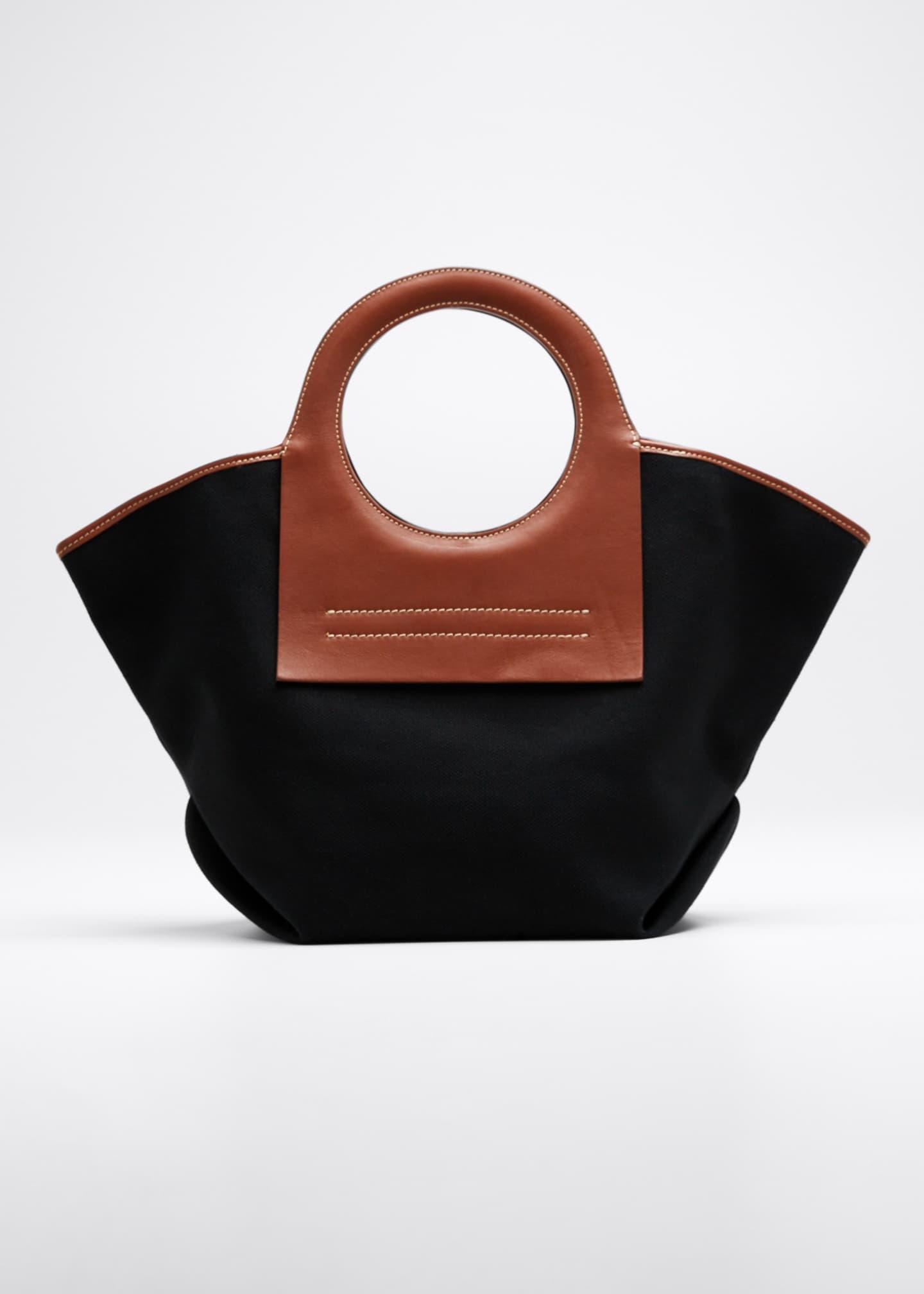 HEREU Cala Two-Tone Canvas Small Tote Bag