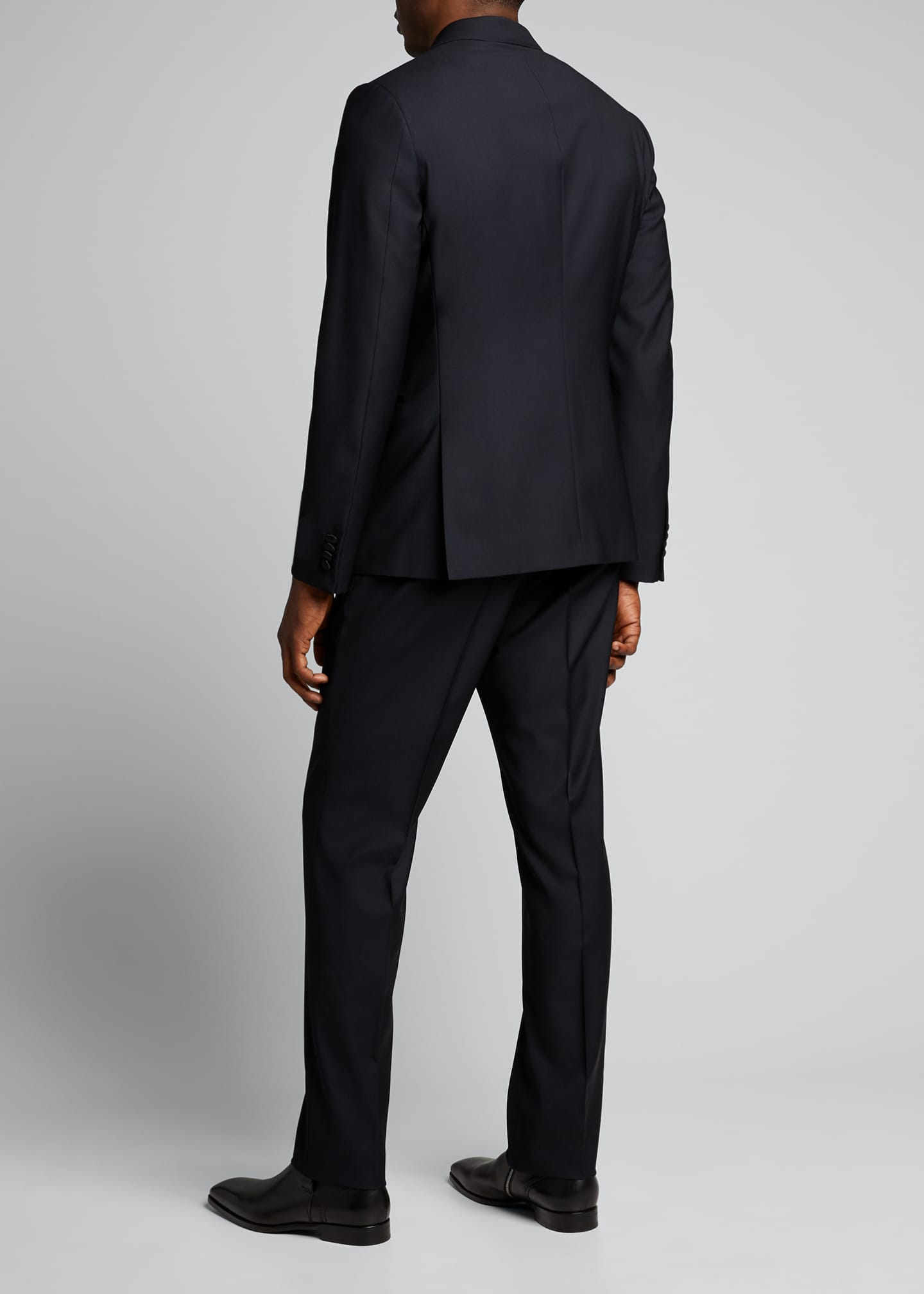 Image 2 of 5: Men's Satin-Trim Two-Piece Tuxedo Suit