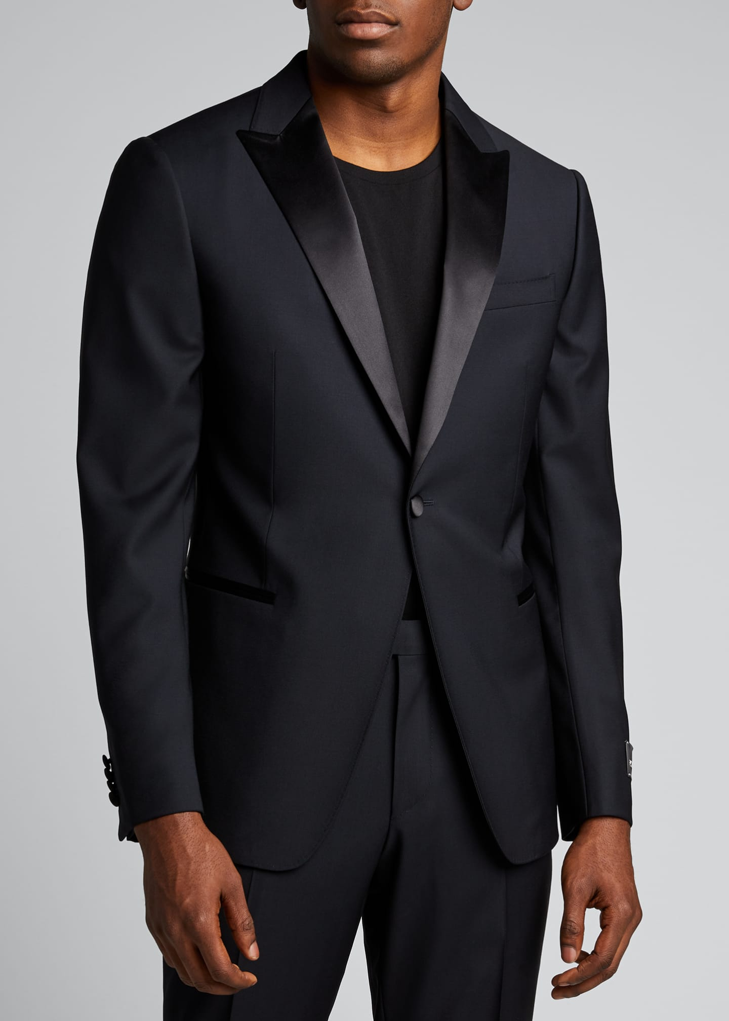 Image 3 of 5: Men's Satin-Trim Two-Piece Tuxedo Suit