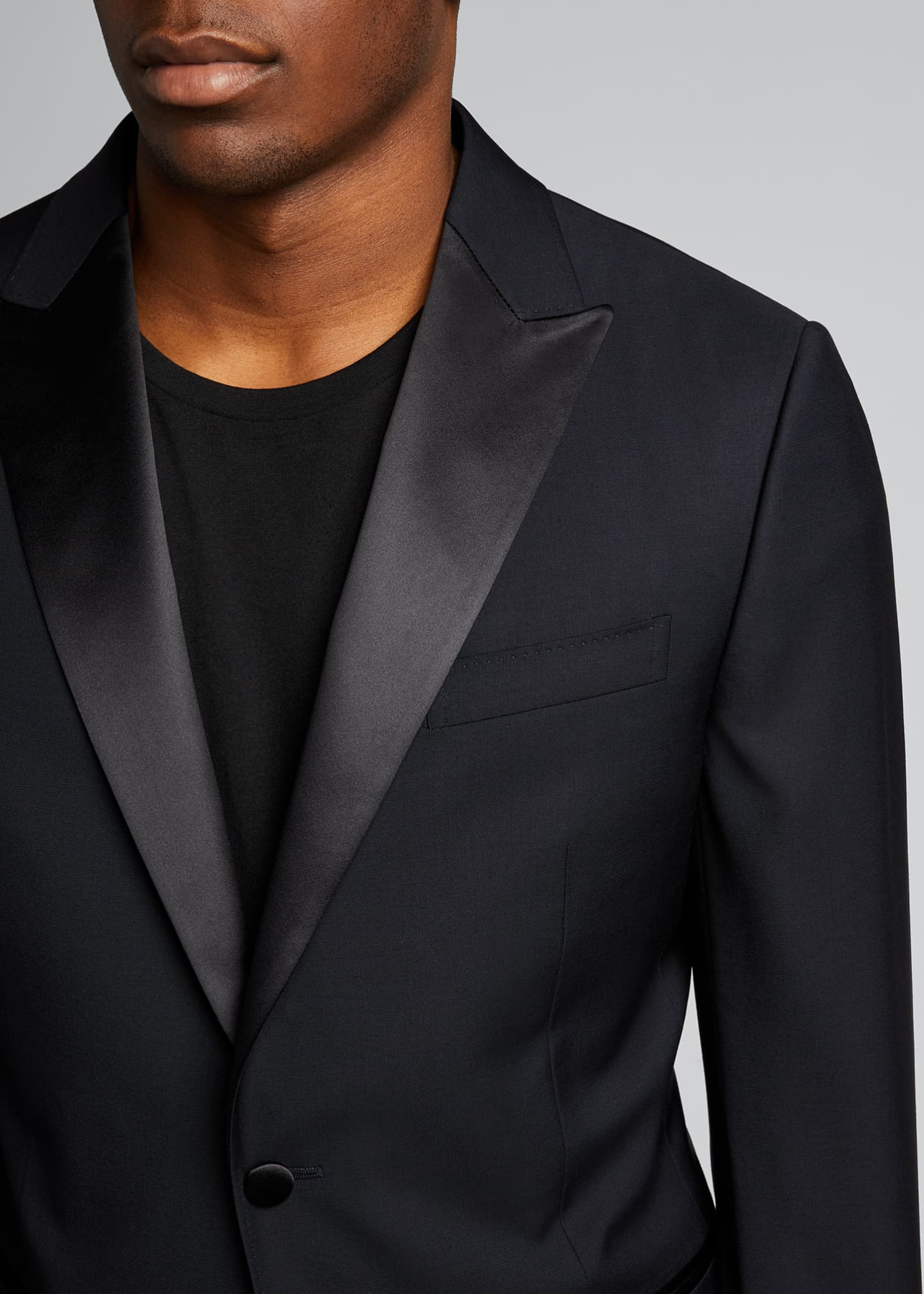 Image 4 of 5: Men's Satin-Trim Two-Piece Tuxedo Suit