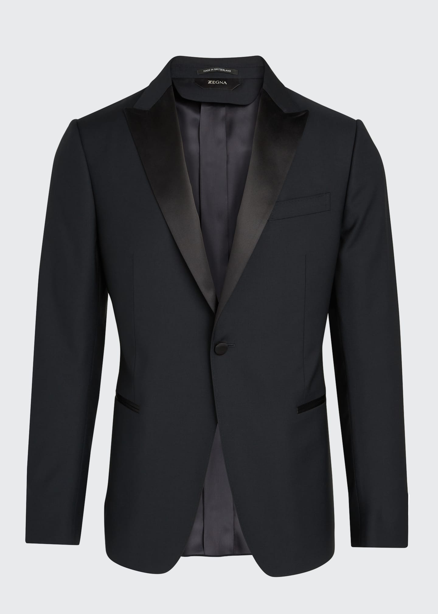Image 5 of 5: Men's Satin-Trim Two-Piece Tuxedo Suit