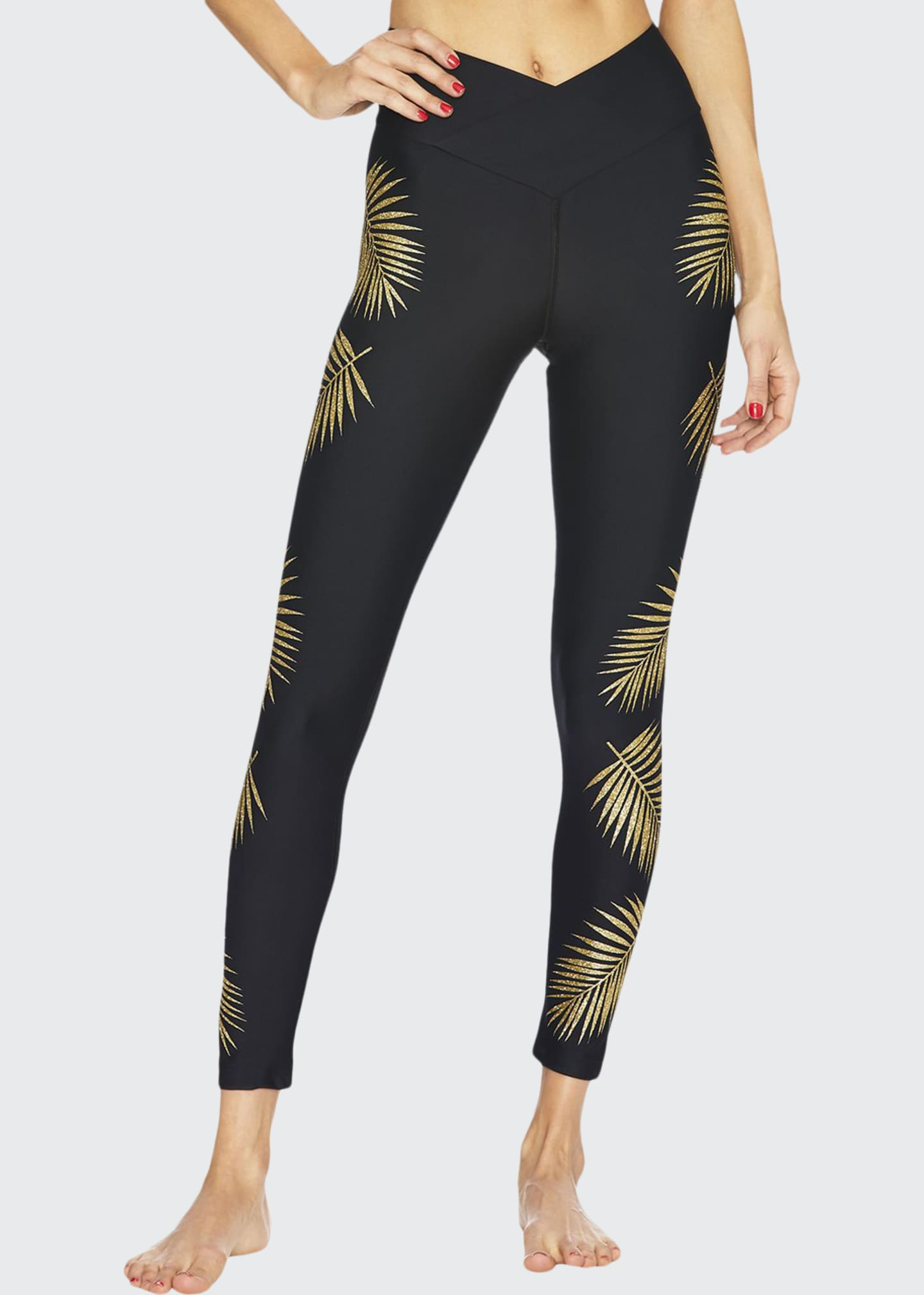 Beach Riot Palm V-Waist Leggings
