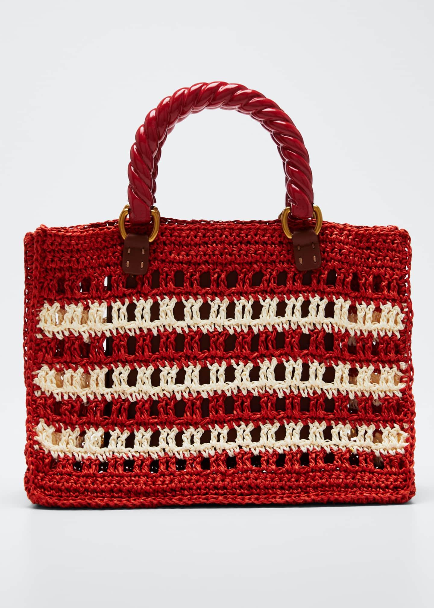 Mehry Mu Lucia Striped Mini Tote Bag, Red